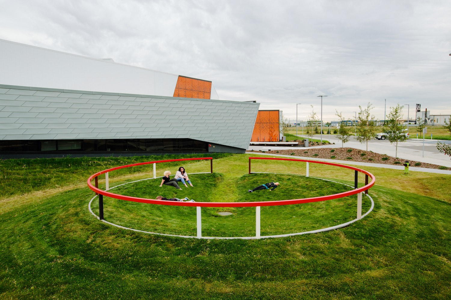 Matthew Geller, public art. LED lights, Calgary, Calgary Public Art, public art, civic art, Great Plains Recreational Center, hockey, ice hockey