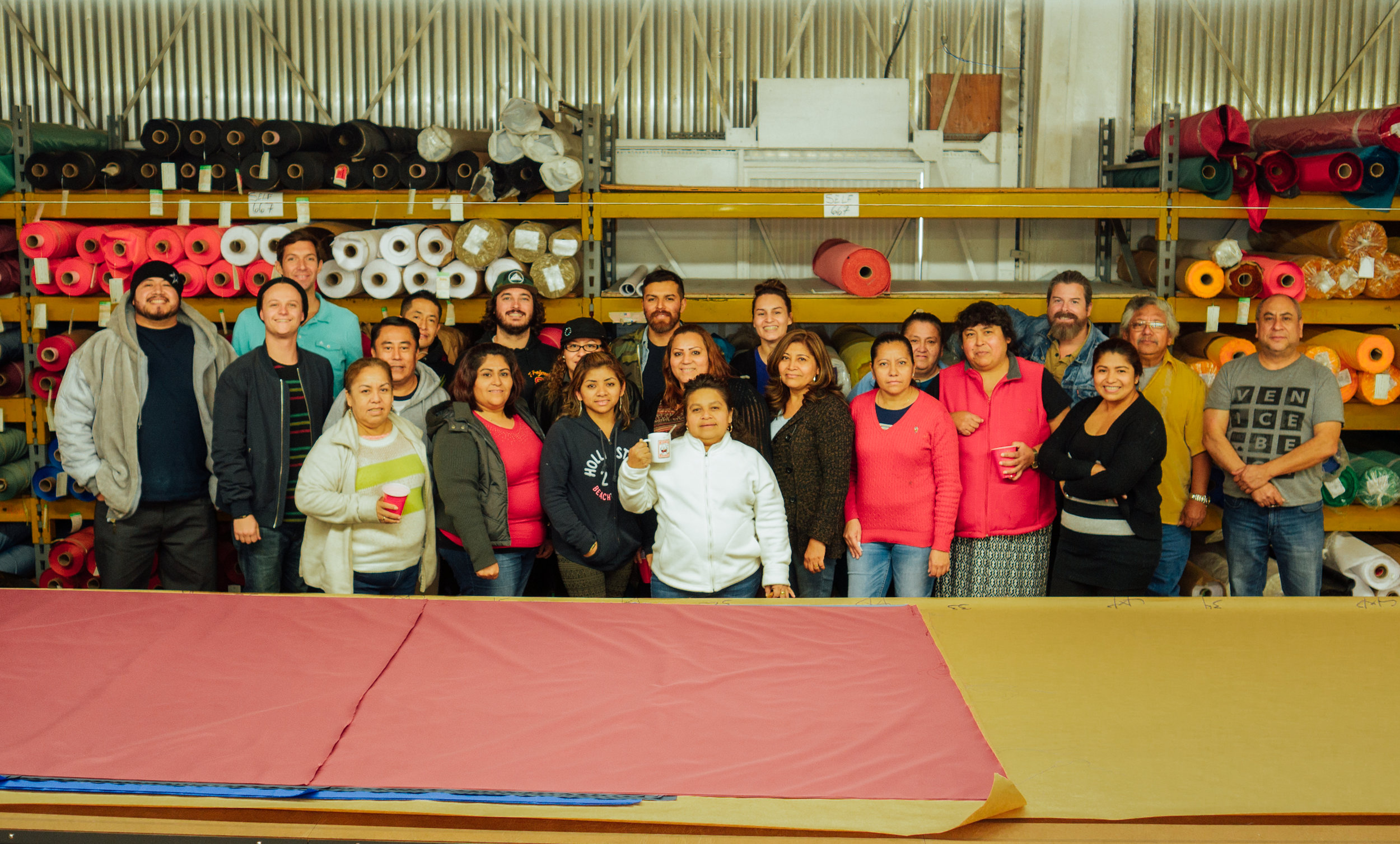 Many members of the Birdwell sewing team have been with the company for decades