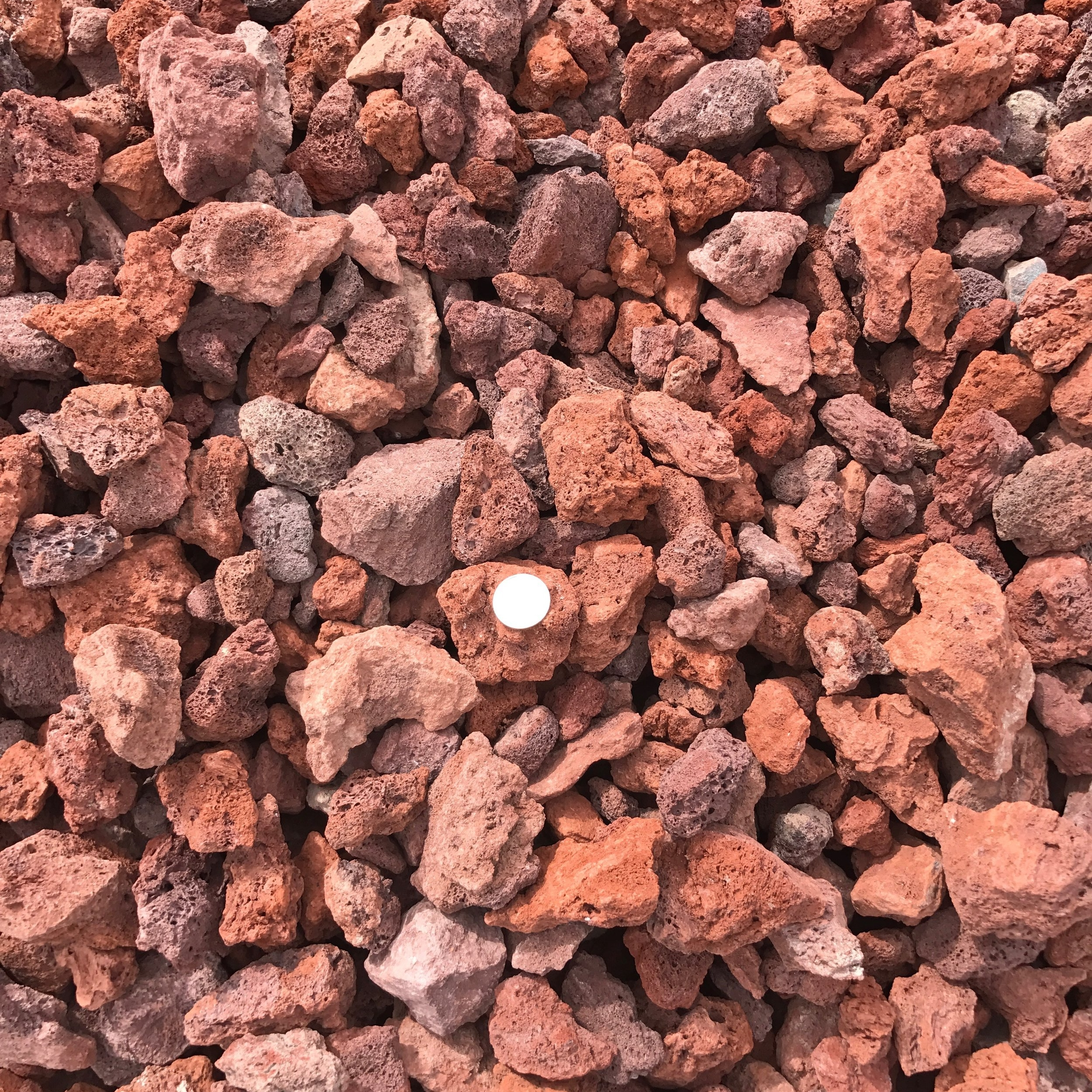 """Scoria 1 1/2""""  Red pumice rock used for landscaping"""