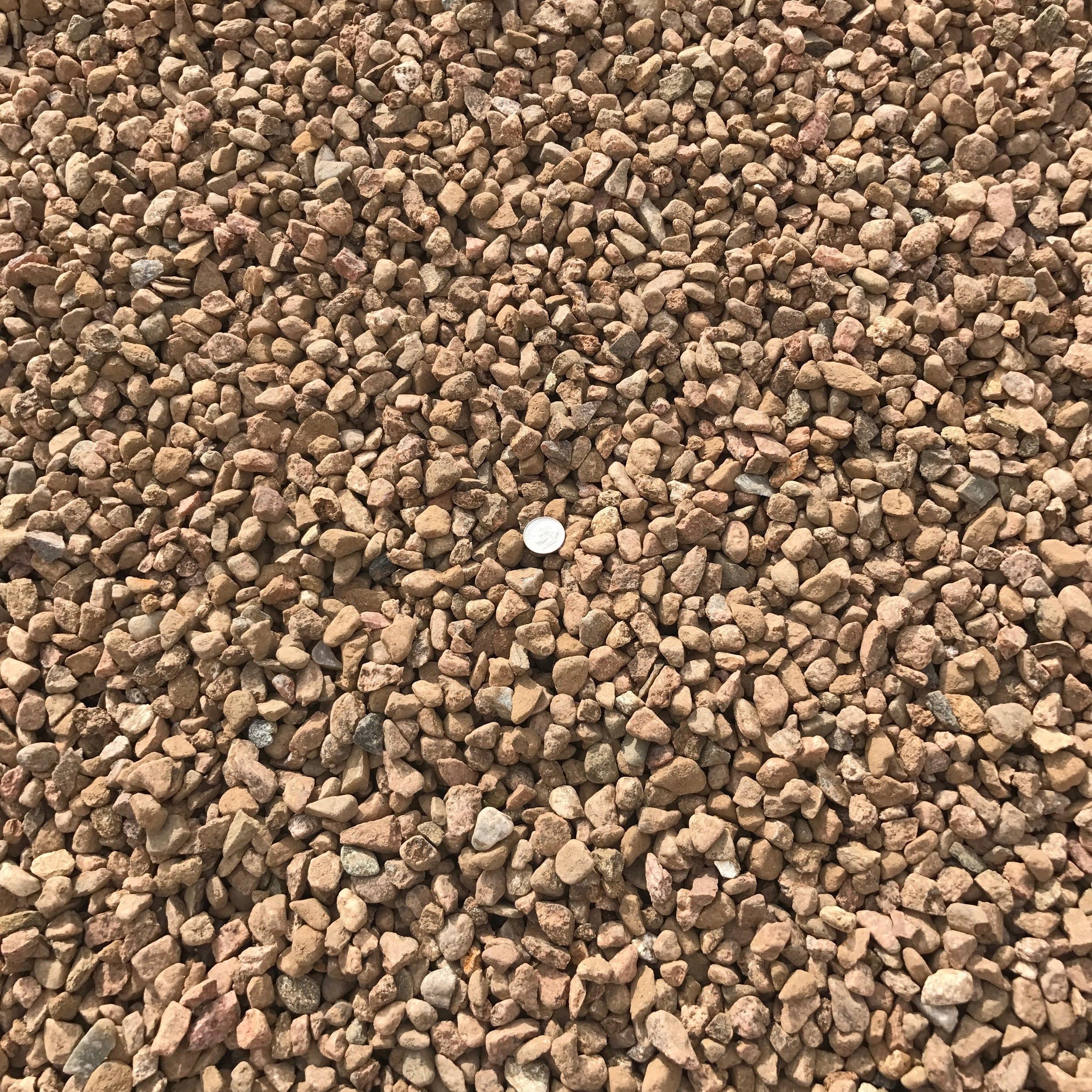 "Santa Fe Brown 7/16""  Popular brown landscape gravel"