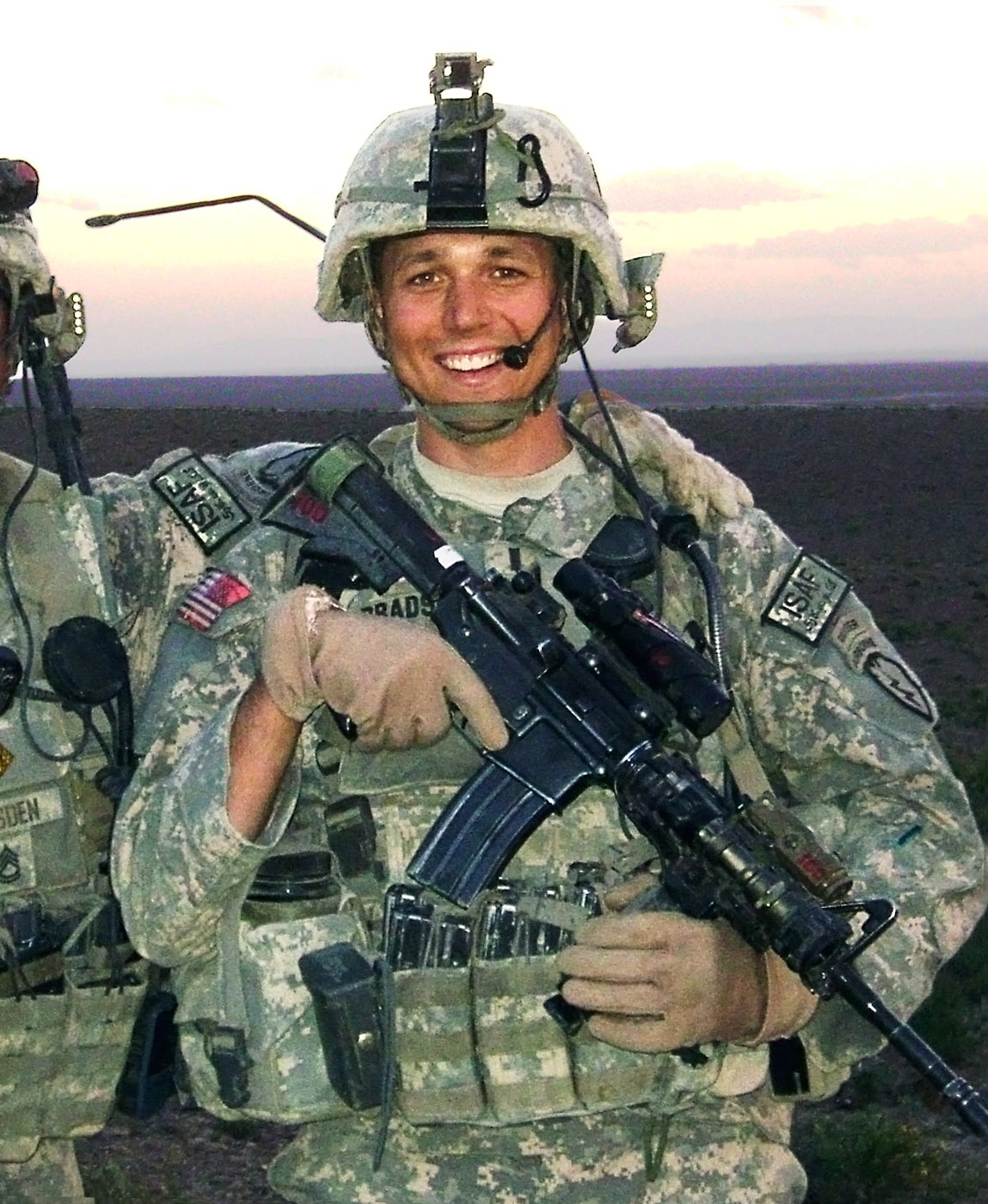 U.S. Army First Lieutenant Brian Bradshaw, 24, of Steilacoom, Washington, assigned to the 1st Battalion, 501st Parachute Infantry Regiment, 4th Airborne Brigade Combat Team, 25th Infantry Division, based in Fort Richardson, Alaska, died in Kheyl, Afghanistan, on June 25th, 2009, from wounds suffered when insurgents detonated a roadside bomb near his vehicle. He is survived by his parents, Paul and Mary, and brother Robert.