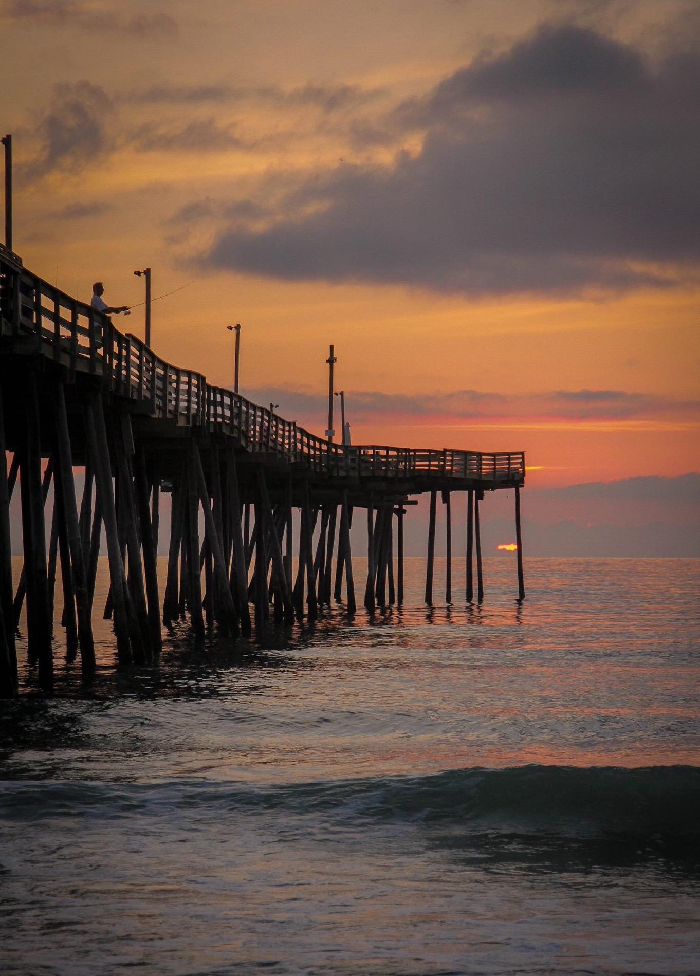 Virginia Beach Pier at Sunrise Photo: Don Paul