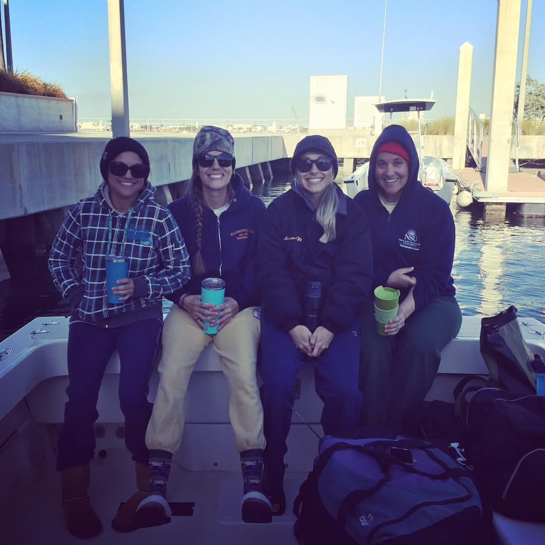 freezing cold mornings with some of the mermaid crew