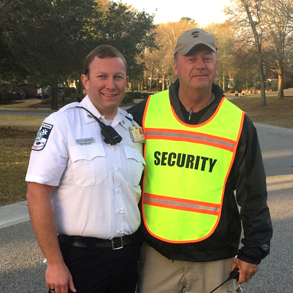 Security Chief Russell James with EMT Officer