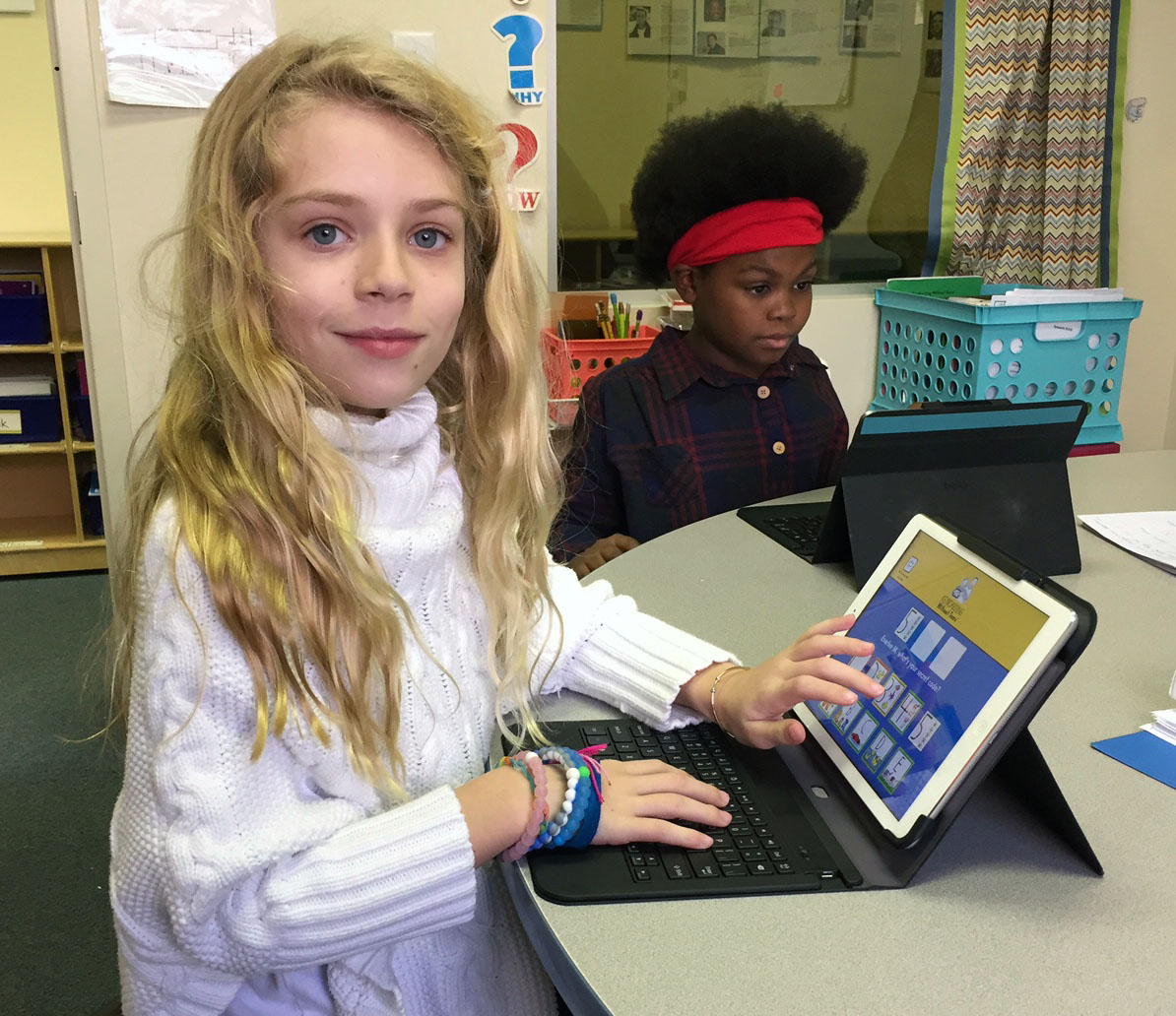The Hill School ipads  to enhance and increase the use of access to assistive technology for learning disabled students.