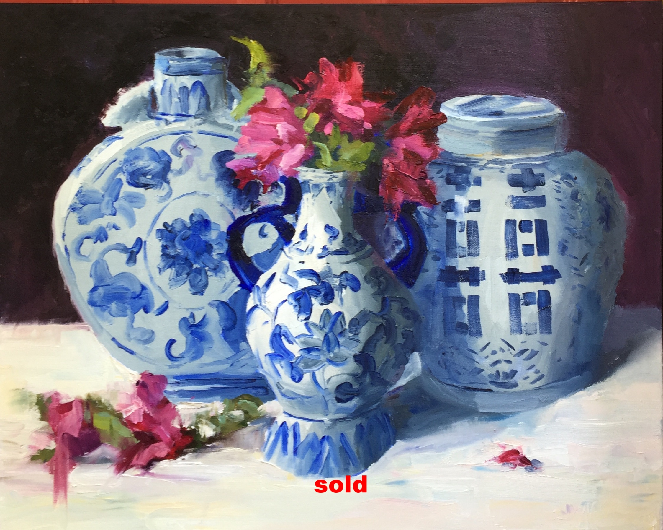 Blue and White Chinoisserie I