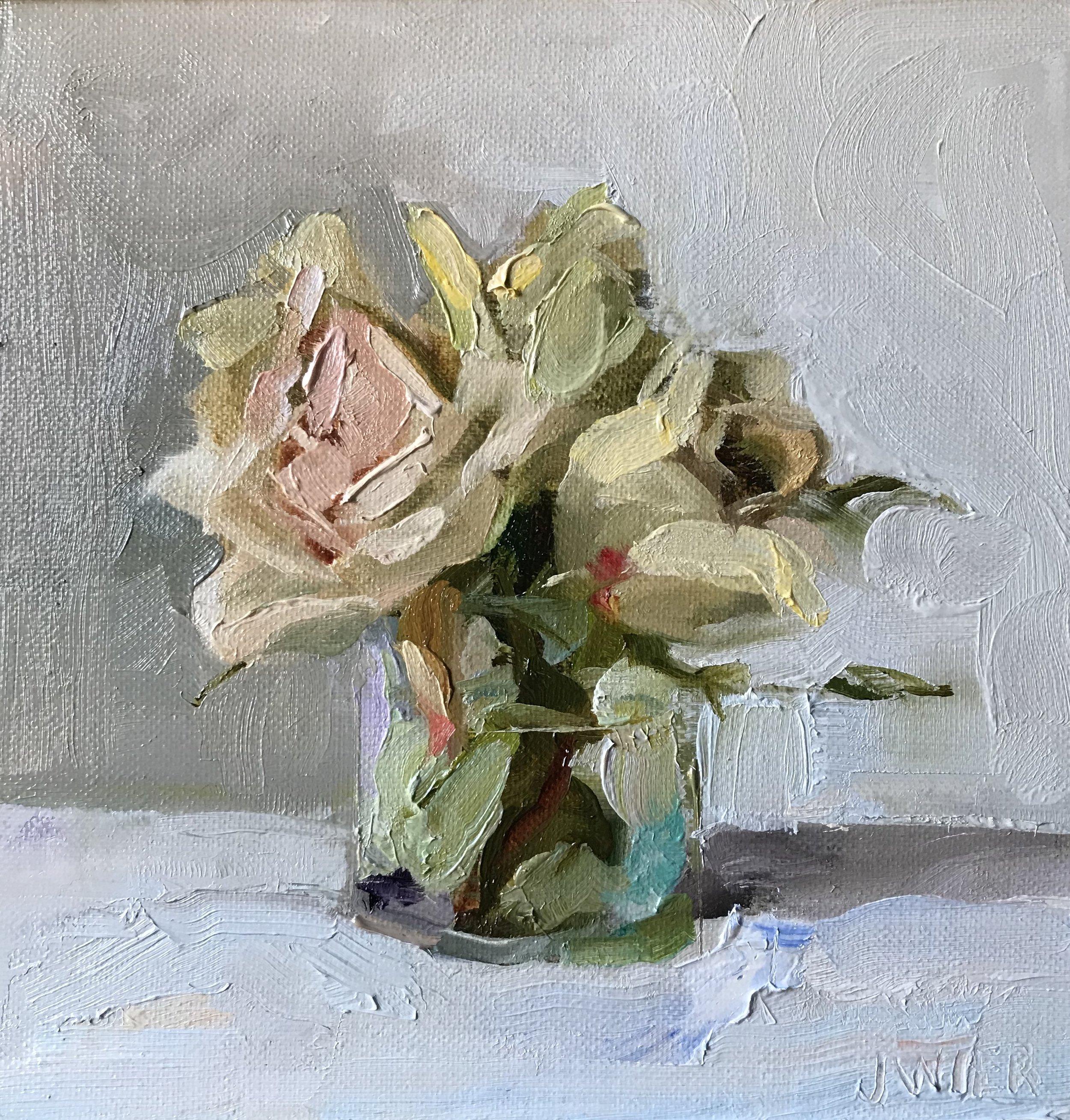 Petite Blanc Roses II