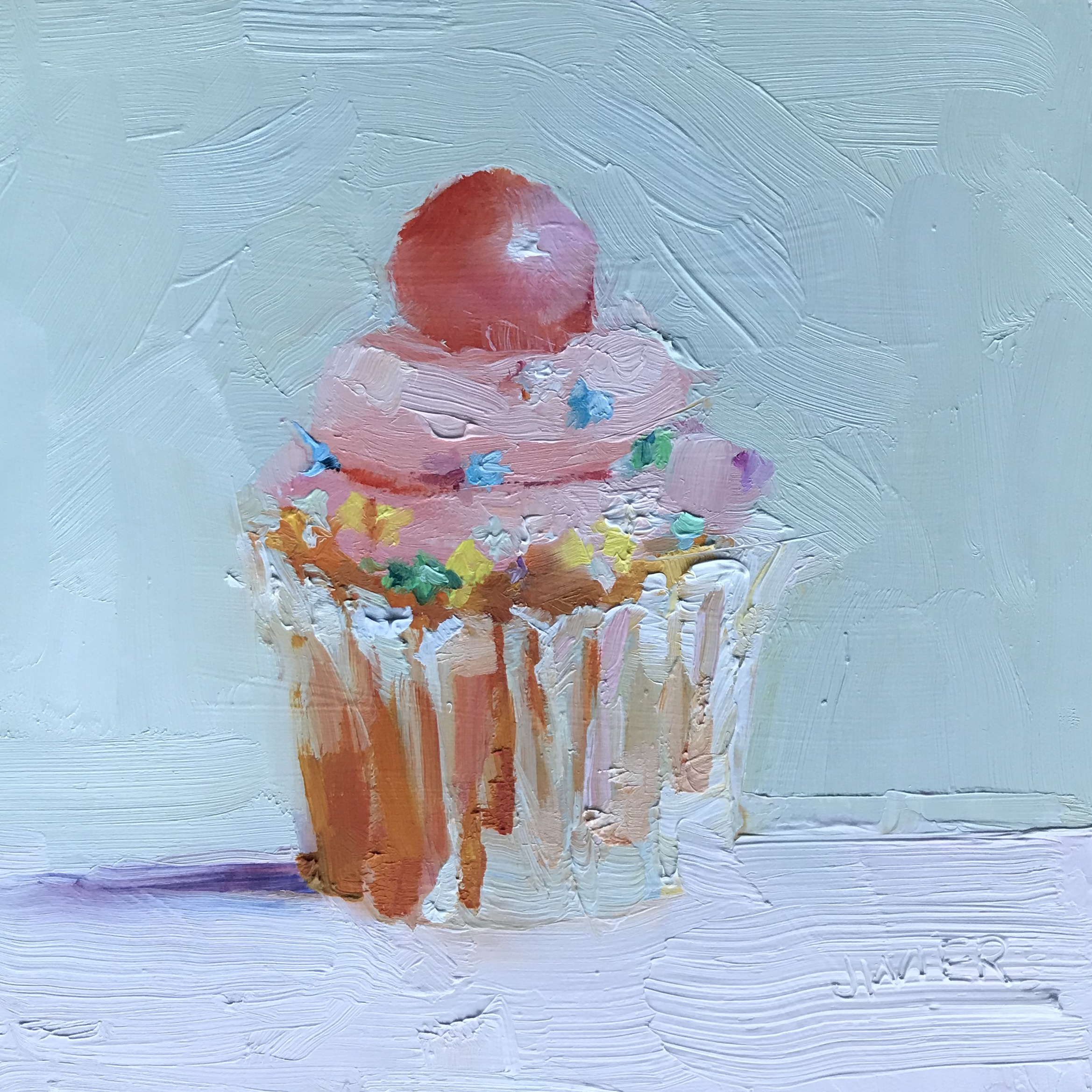 Bubblegum Ball Cupcake