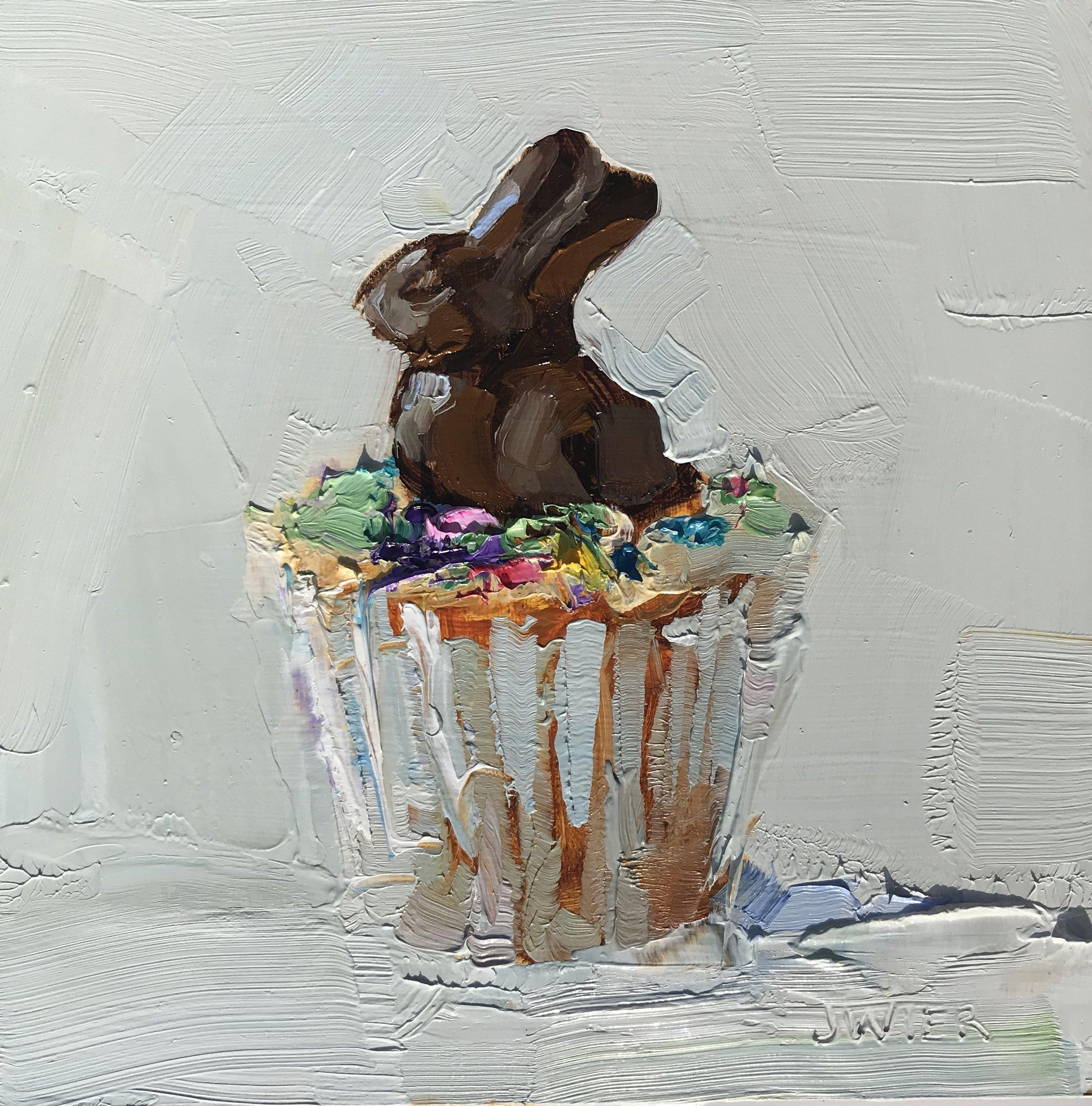 Chocolate Bunny Cupcake