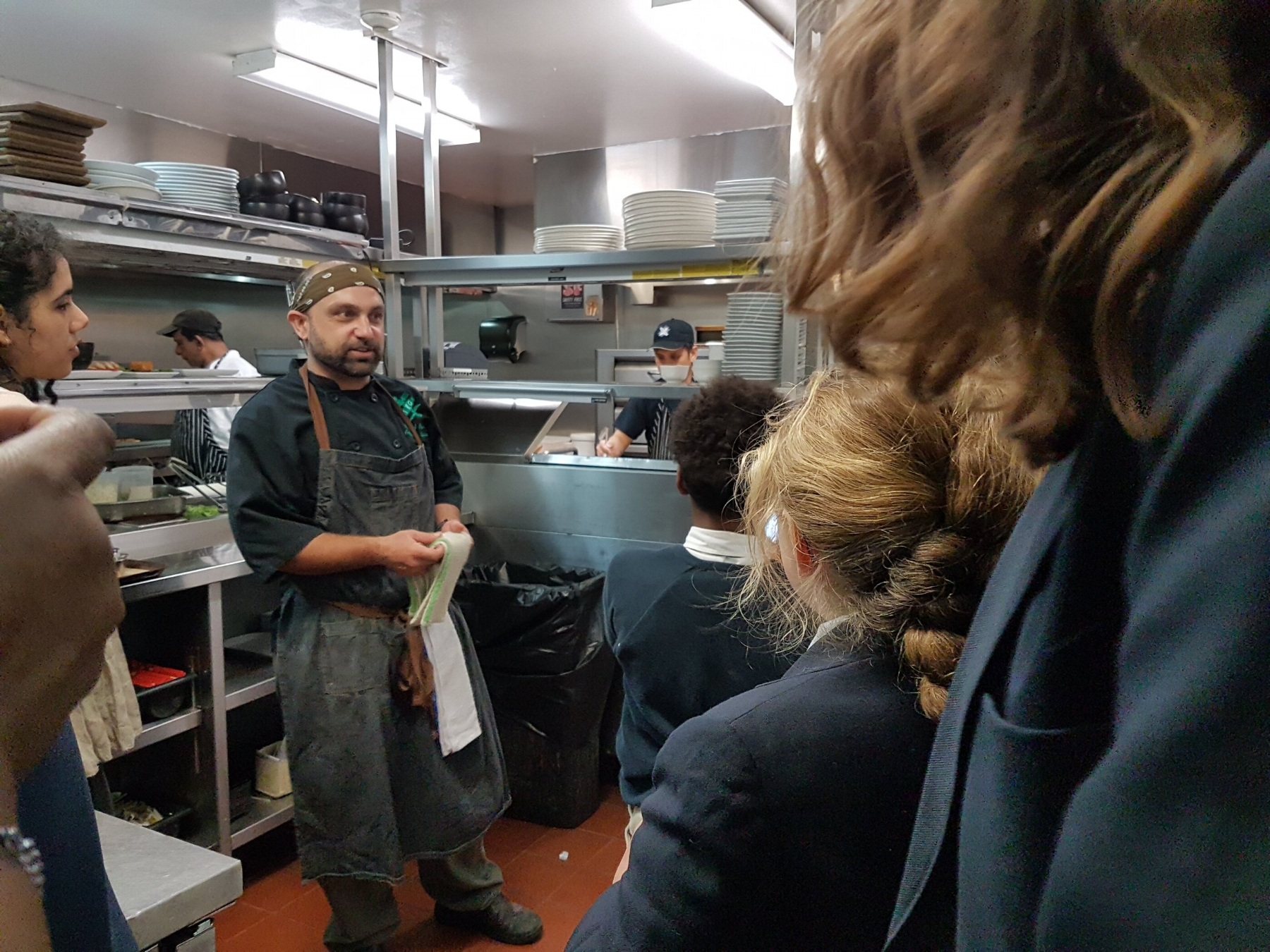 Touring the kitchen with Chef Andre