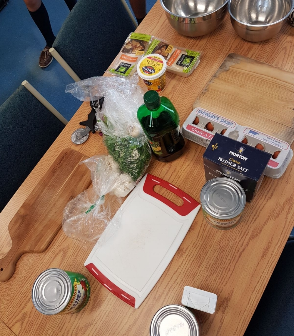 The ingredients are ready to go