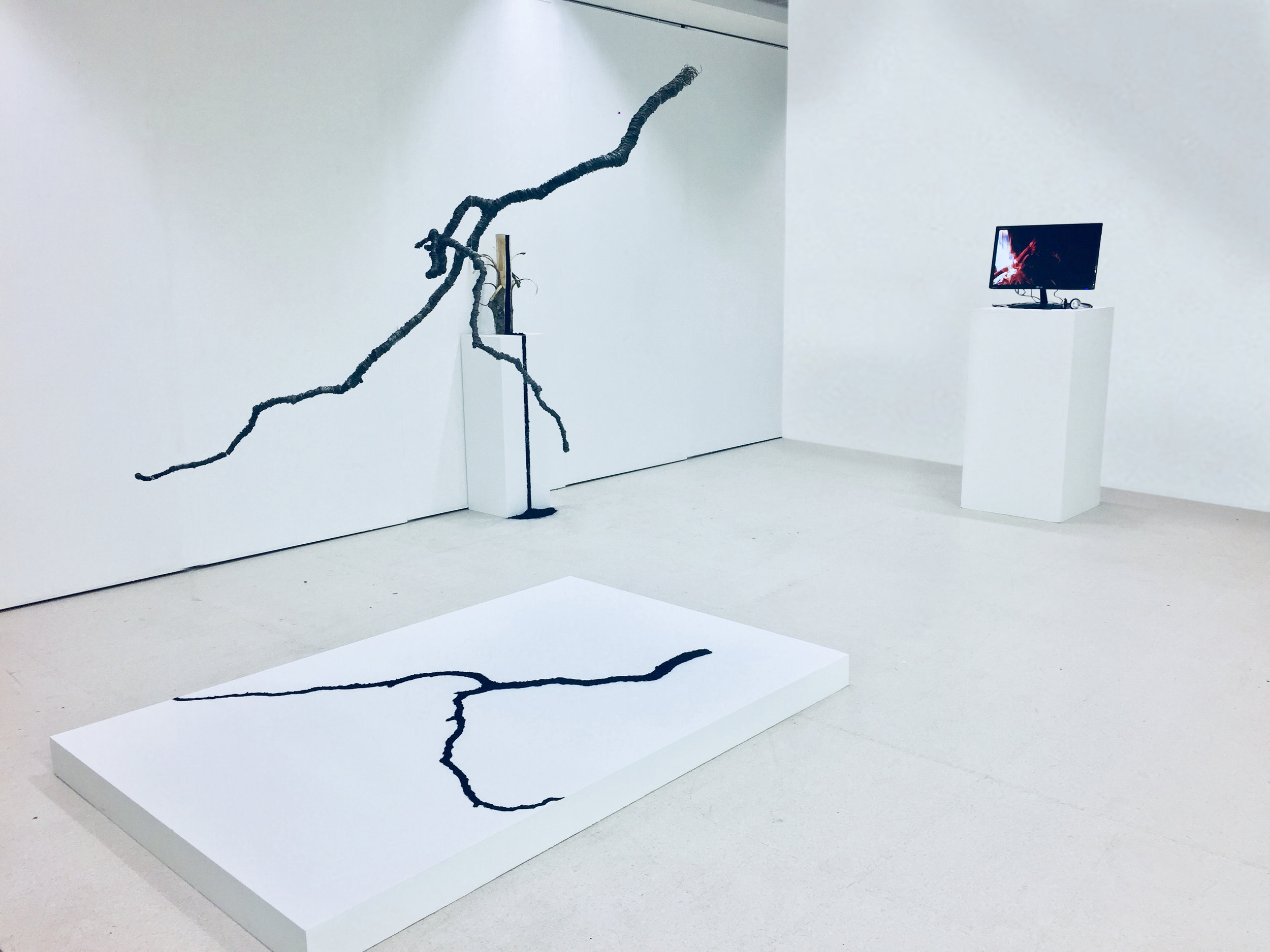 Work displayed for  inflection point,  a group exhibition in Tent Gallery