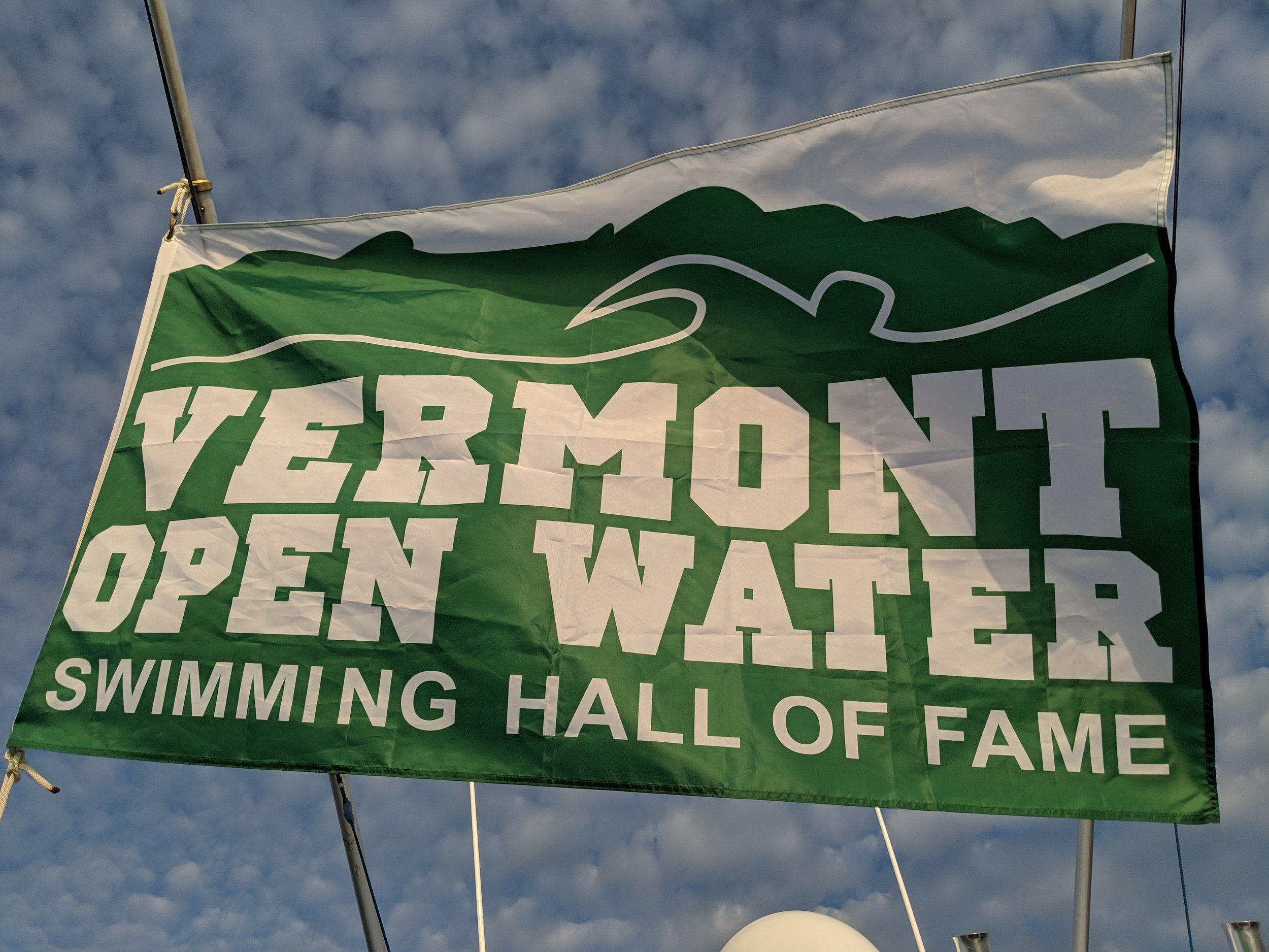 I was inducted to the Vermont Open Water Swimming Hall of Fame in 2018.