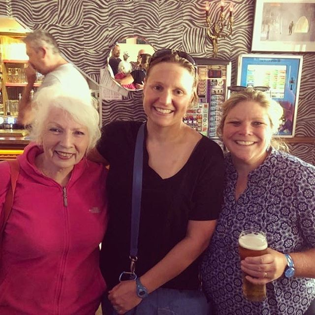 Jackie Cobell, Sarah Thomas, Elaine Howley. Can I type my own name in the same sentence with these two phenomenal women? #starstruck #channelswimmer #4wayenglishchannelswim