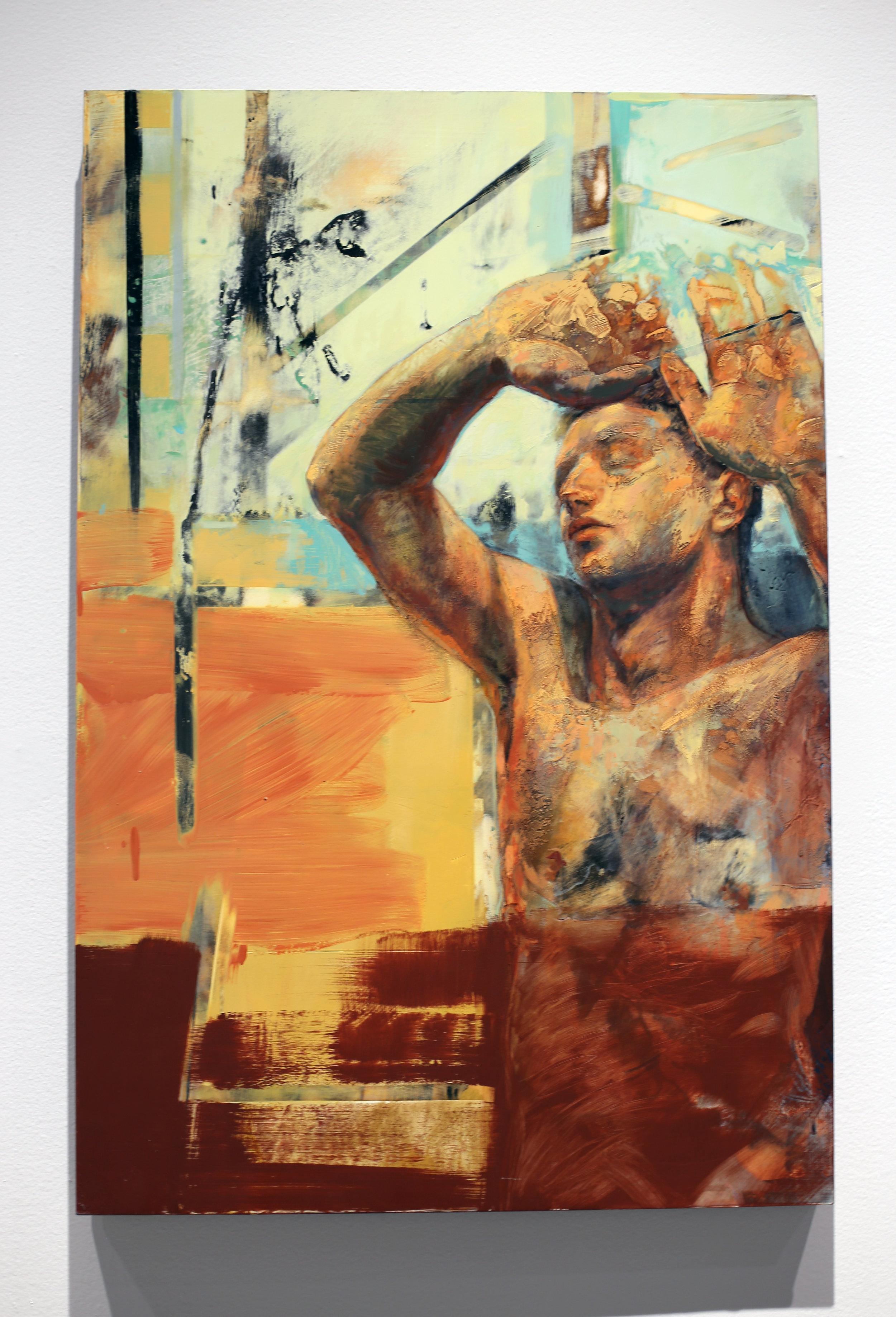 Bruce Herman, Persistence of Vision, Oil, gold leaf on wood
