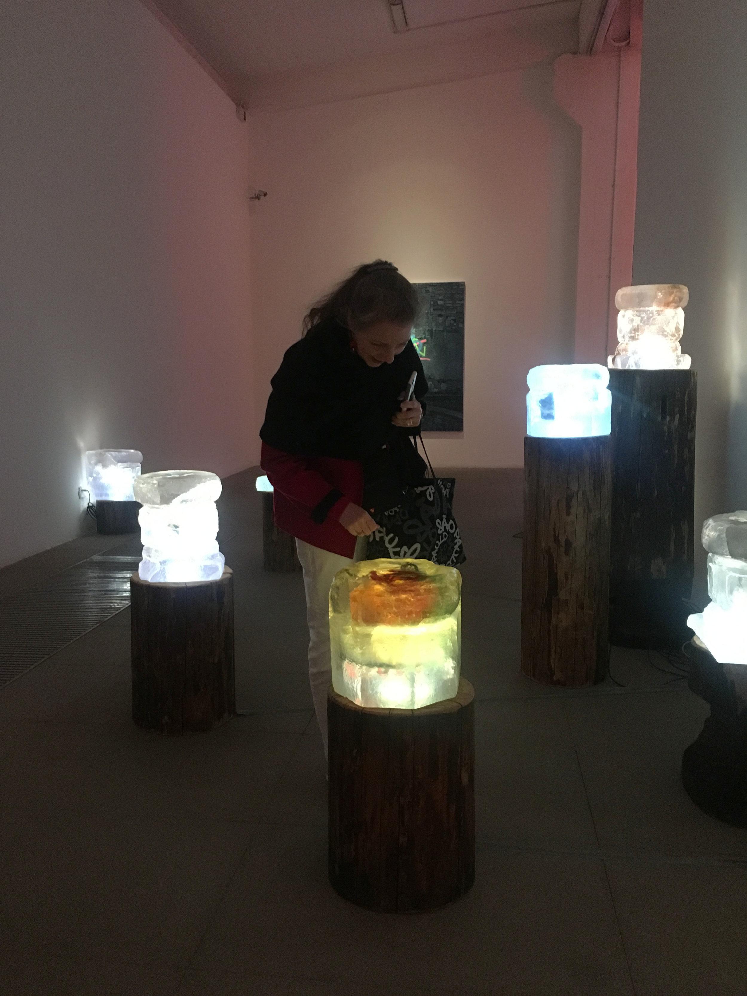 Kathrine exploring the Art Zone