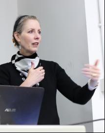 Kathrine speaking at CAFA