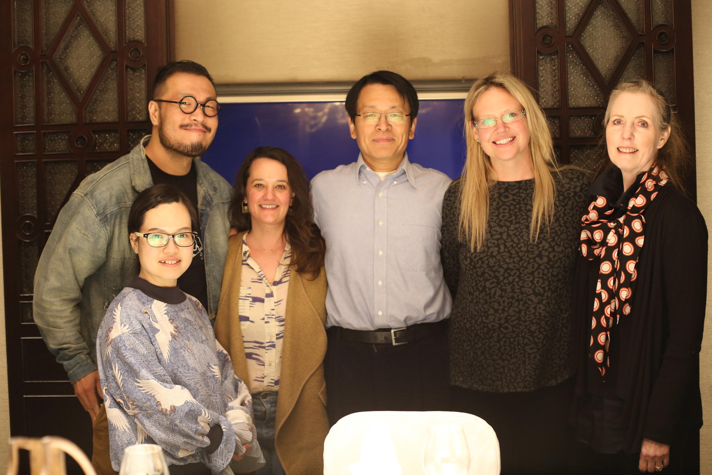 Lulu Bao, Willie Yao, friend Christy Capano, Ma Xinle, Monique, and Kathrine