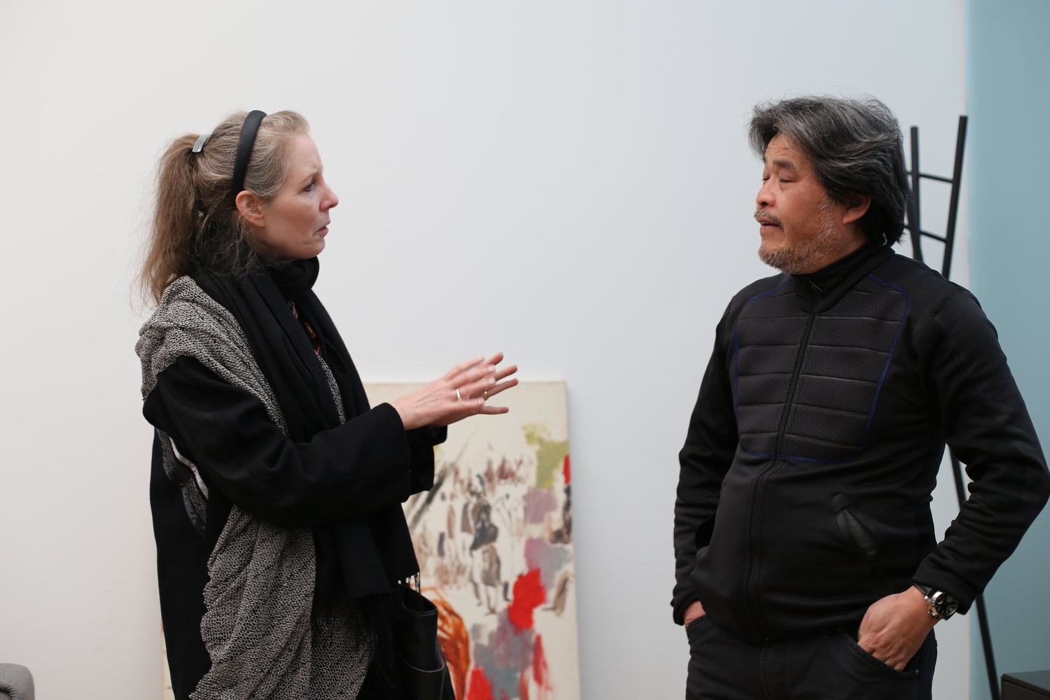 Kathrine with artist ZHAO Gang
