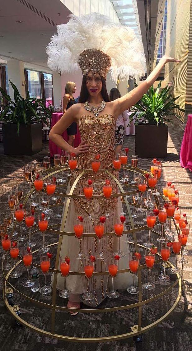 Patron reception champagne skirt