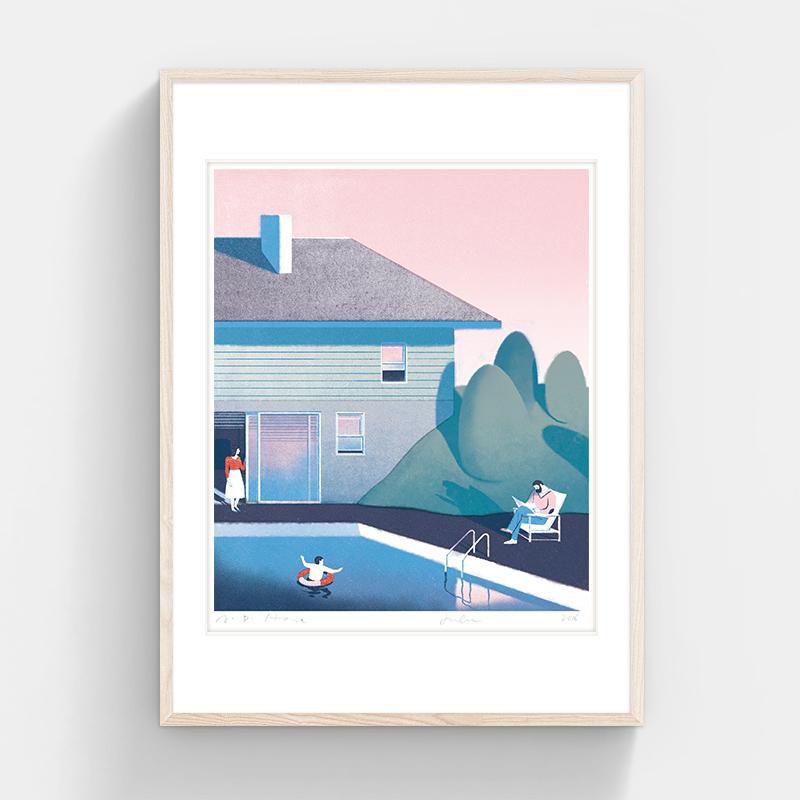 HOME (Without Framing), Jun Cen, 340 X 400 mm, Silkscreen on Paper, 2016