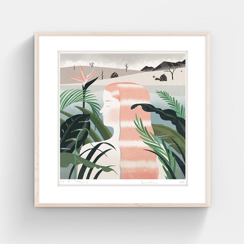 FORGIVING (Without Framing), Jun Cen, 400 X 400 mm, Silkscreen on Paper, 2016