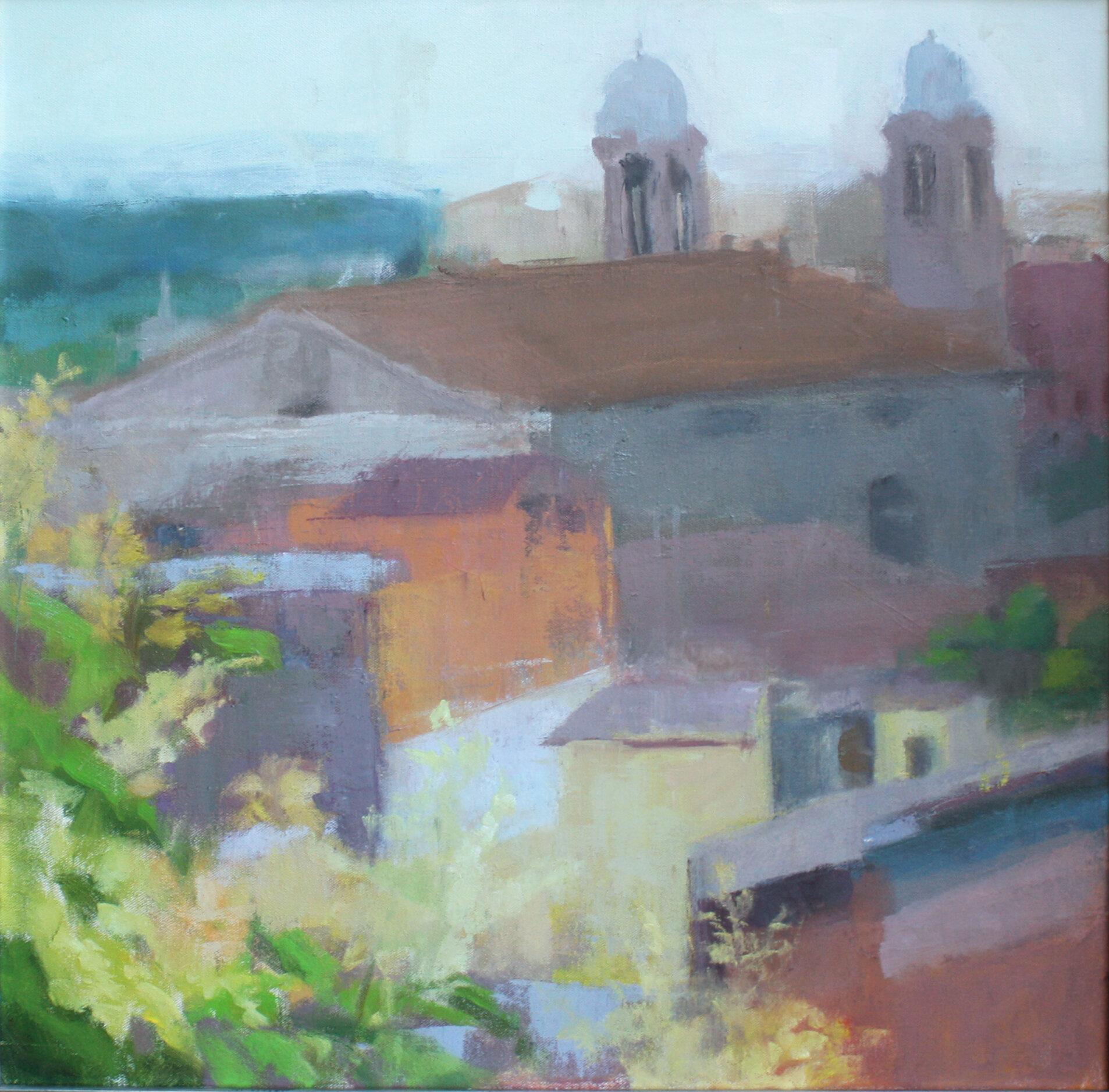 Tutt i, oil on canvas, 24 by 24 inches    Caroline Chen