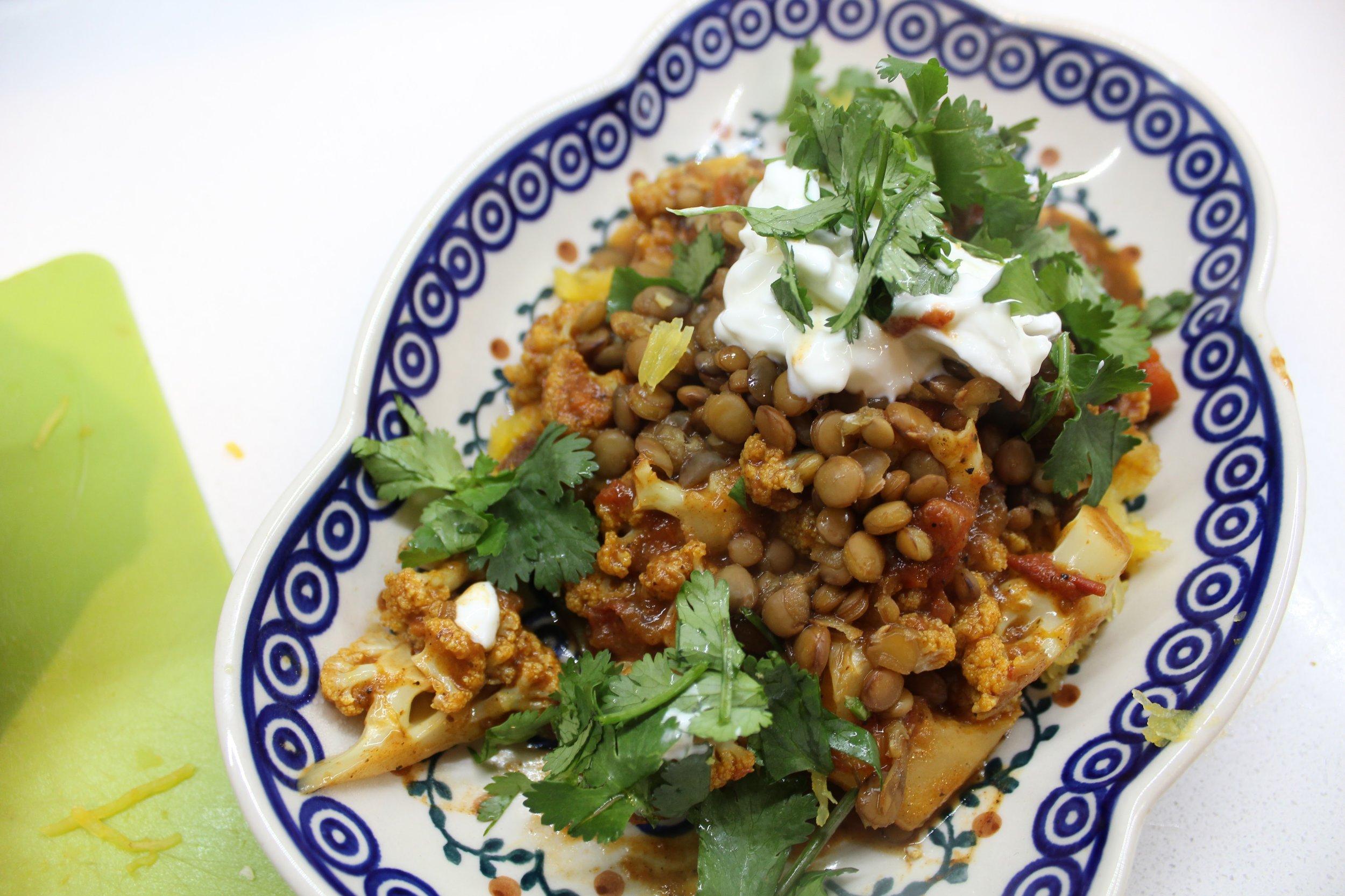 Quick & Spicy Cauliflower Korma (GF, Vegetarian, Vegan) found on www.natashawellness.com