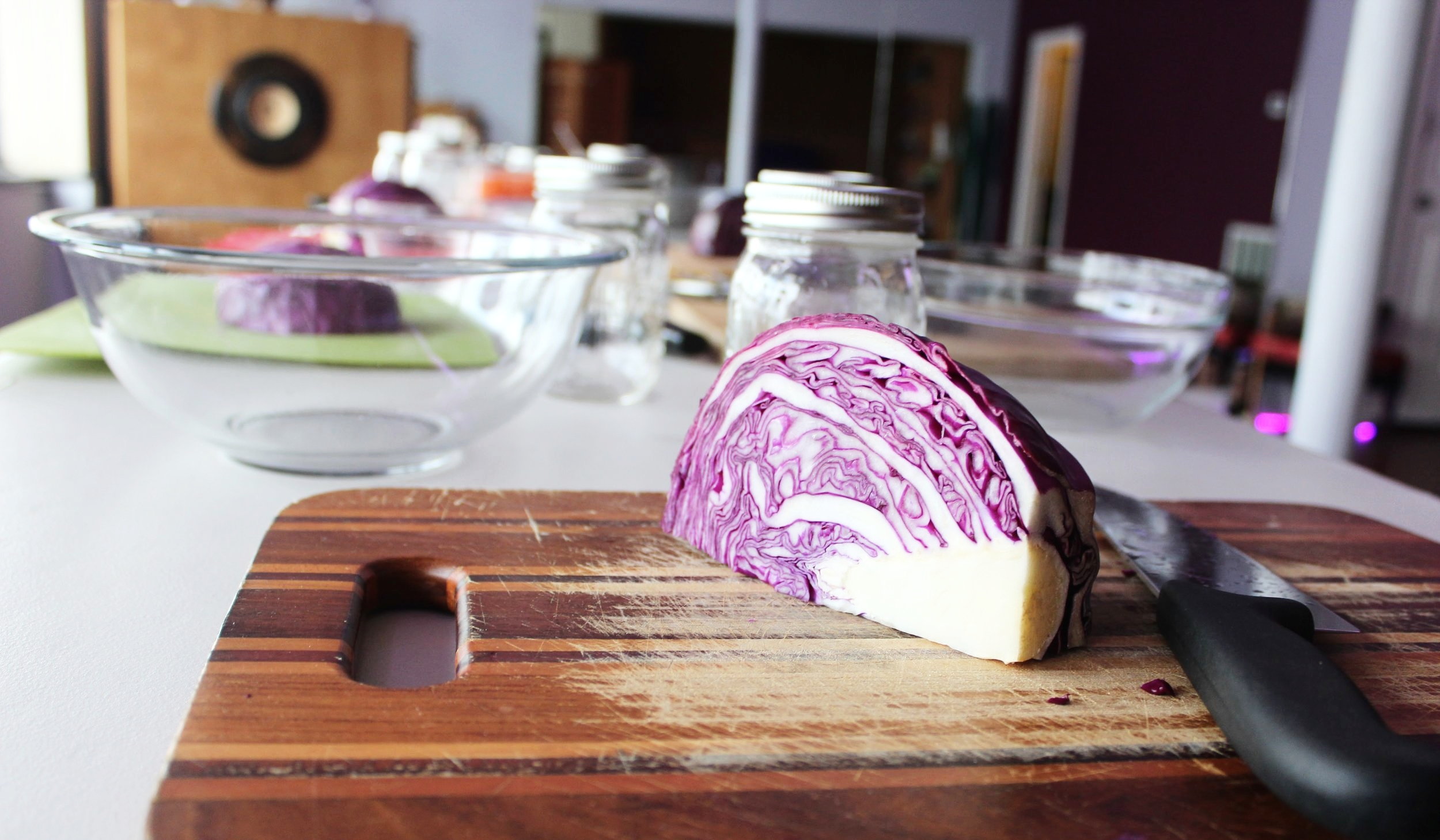 The calm before the storm at our Twist & Kraut Workshop back in February