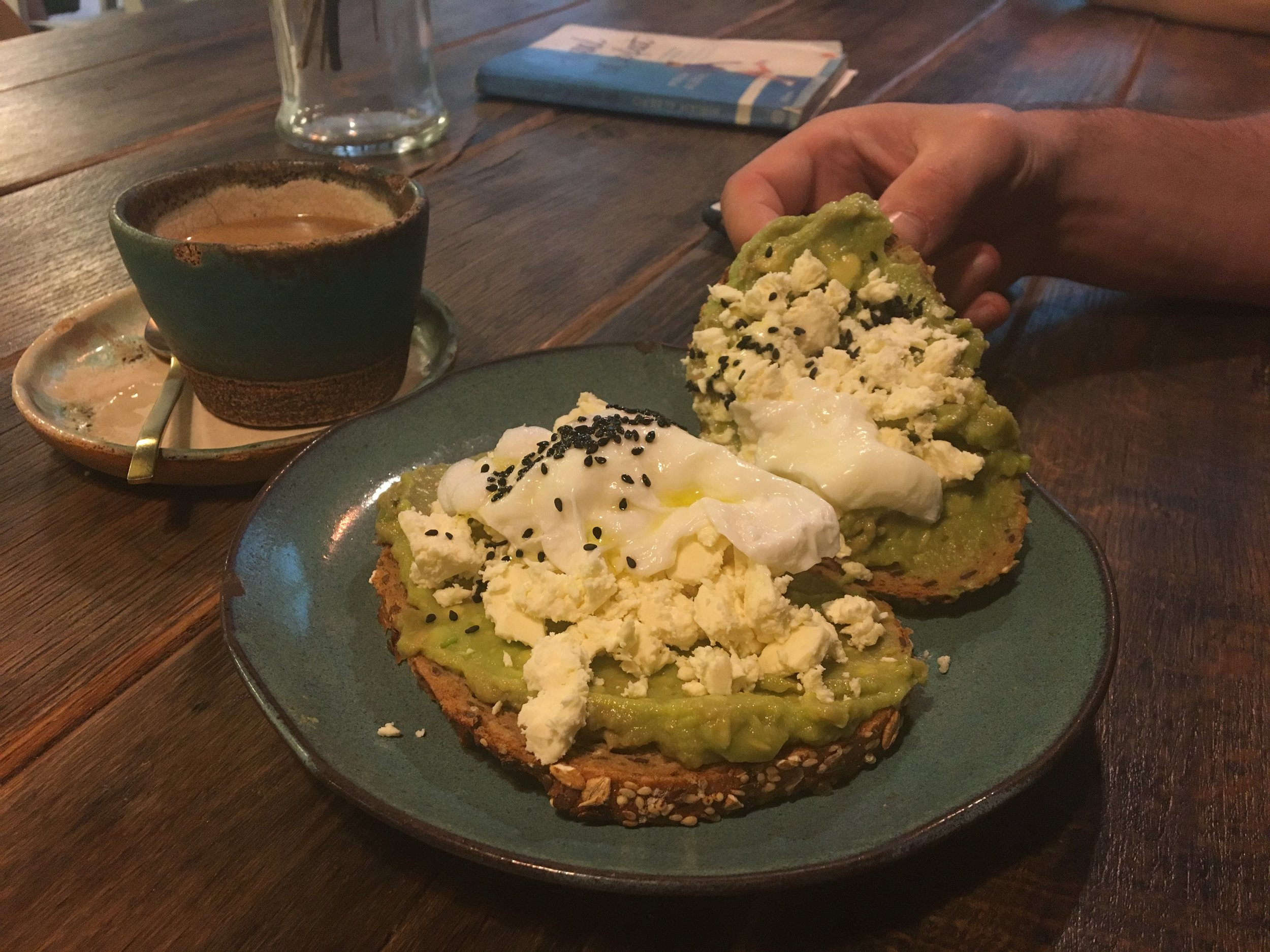 Avocado Toast at Green & Berry