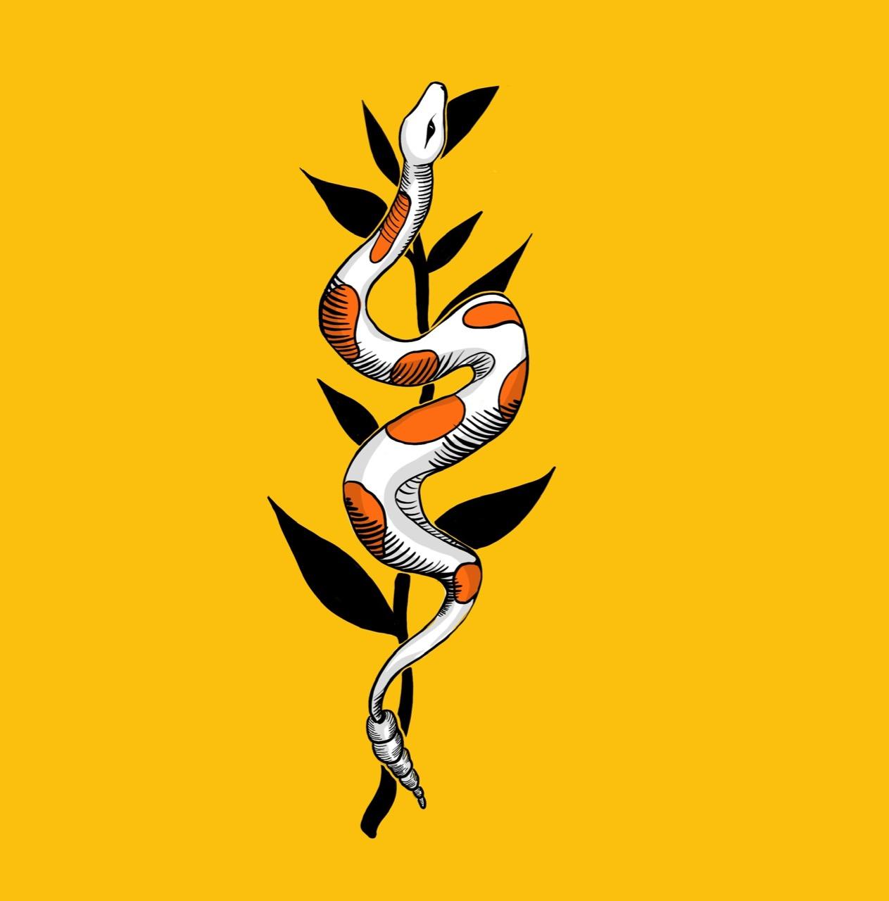 Serpiente y hoja