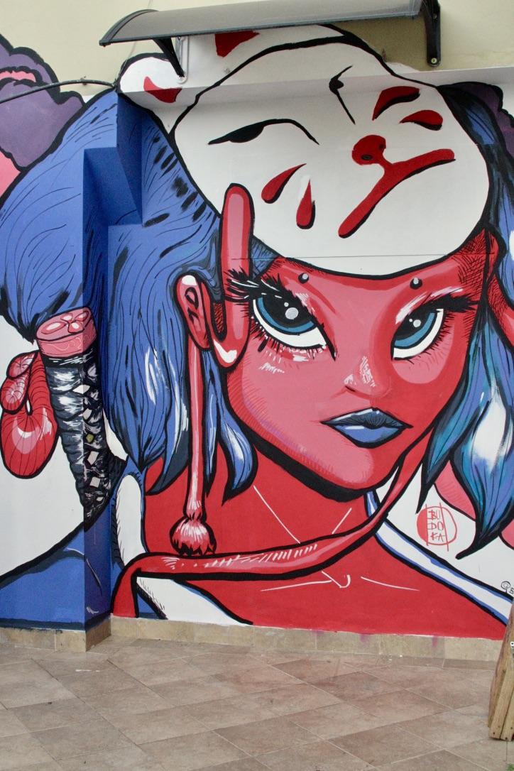 Mural para la entrada de Bijutsu