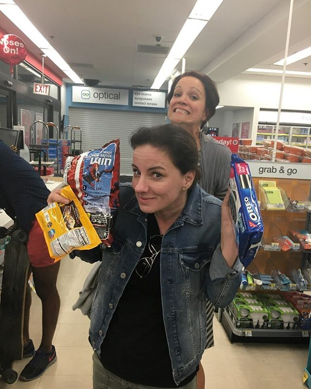 Nothing says girls weekend like a post drag show trip to Walgreens to buy snacks #Chicago #boystown