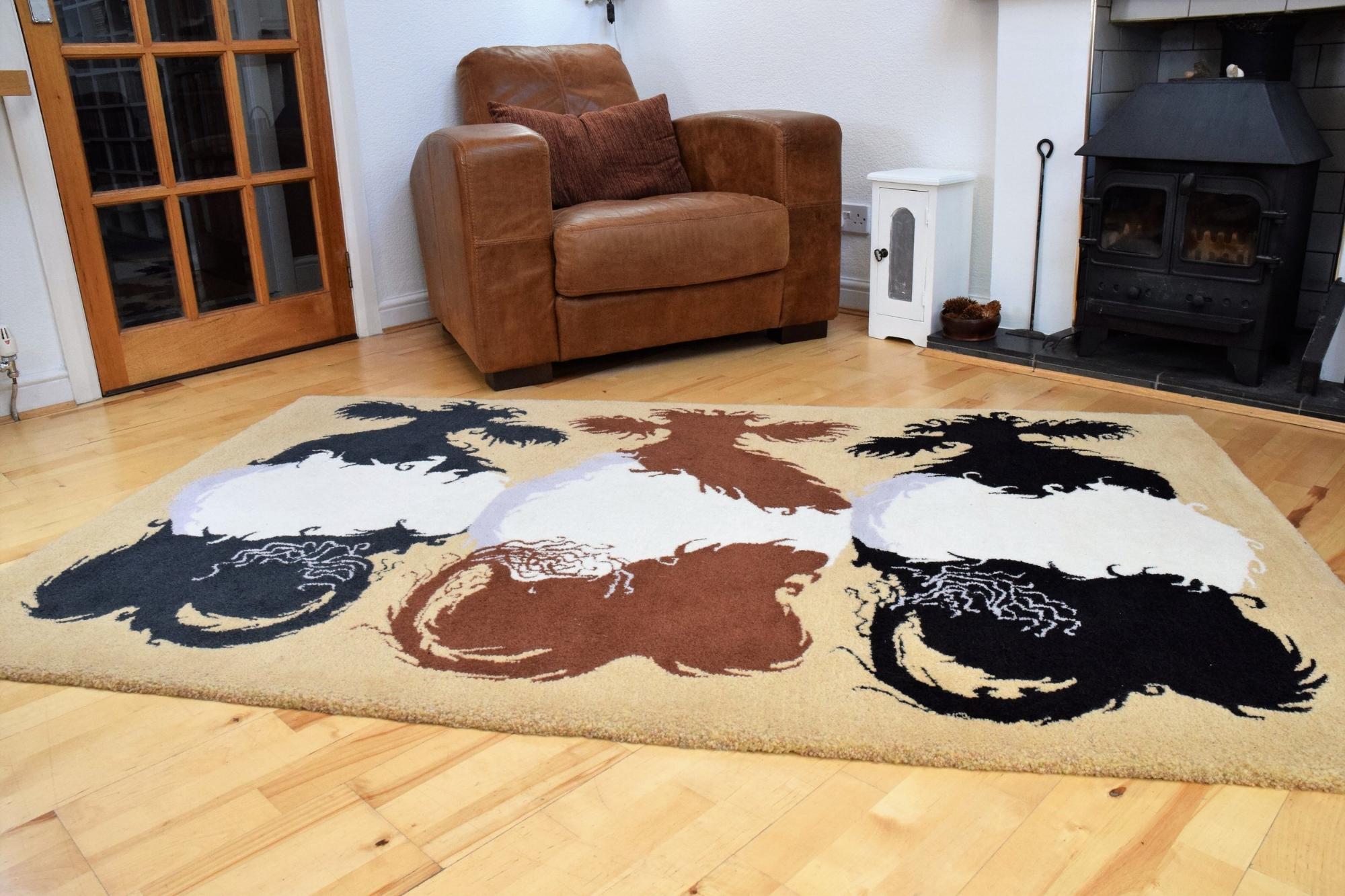 Belties one off bespoke designer hand made art rug.JPG
