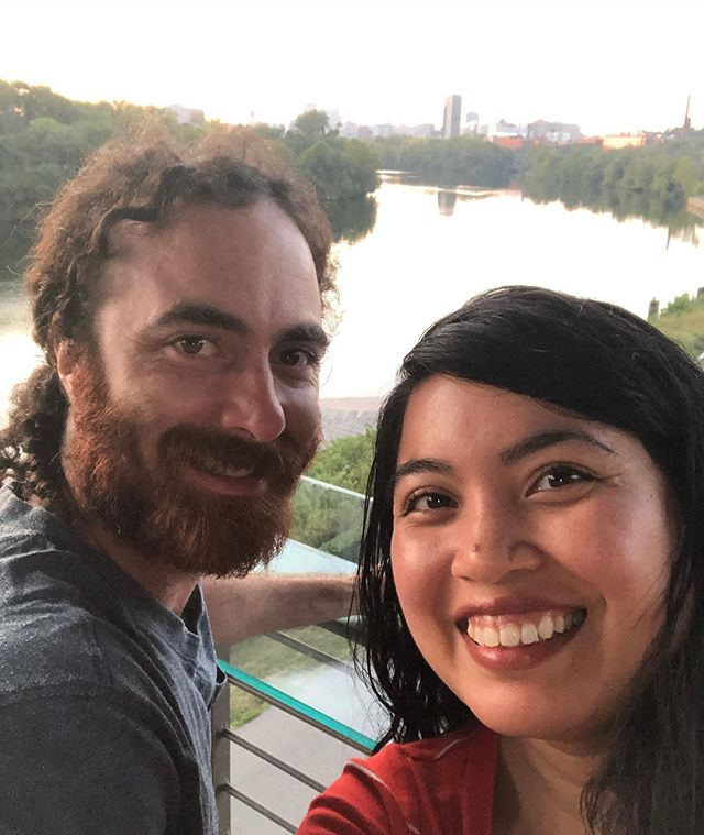 Date night with the hubby, just in time for the sunset!