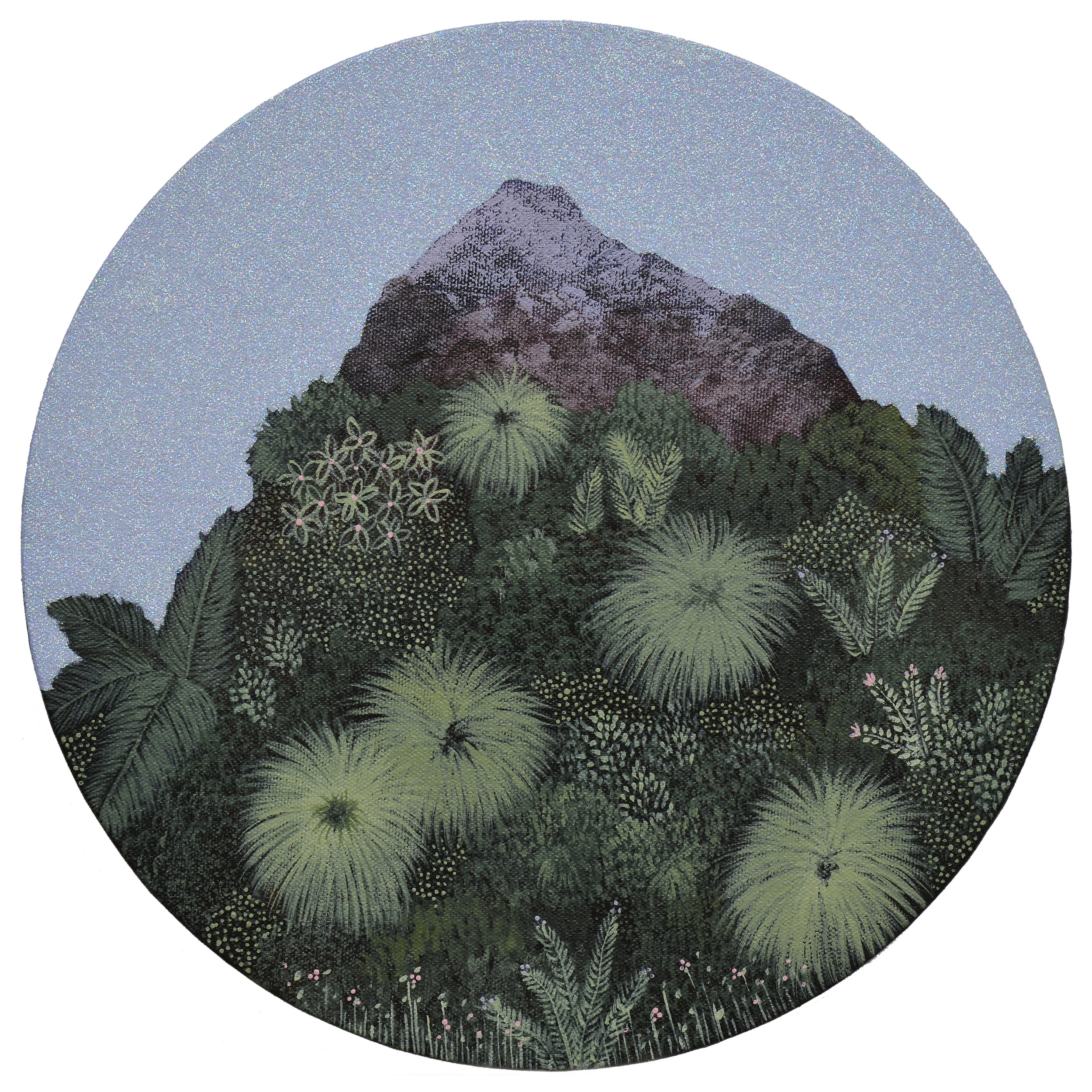 Marc Standing, Wilderness 6 , 2016, acrylic on canvas, 30 x 30 cm