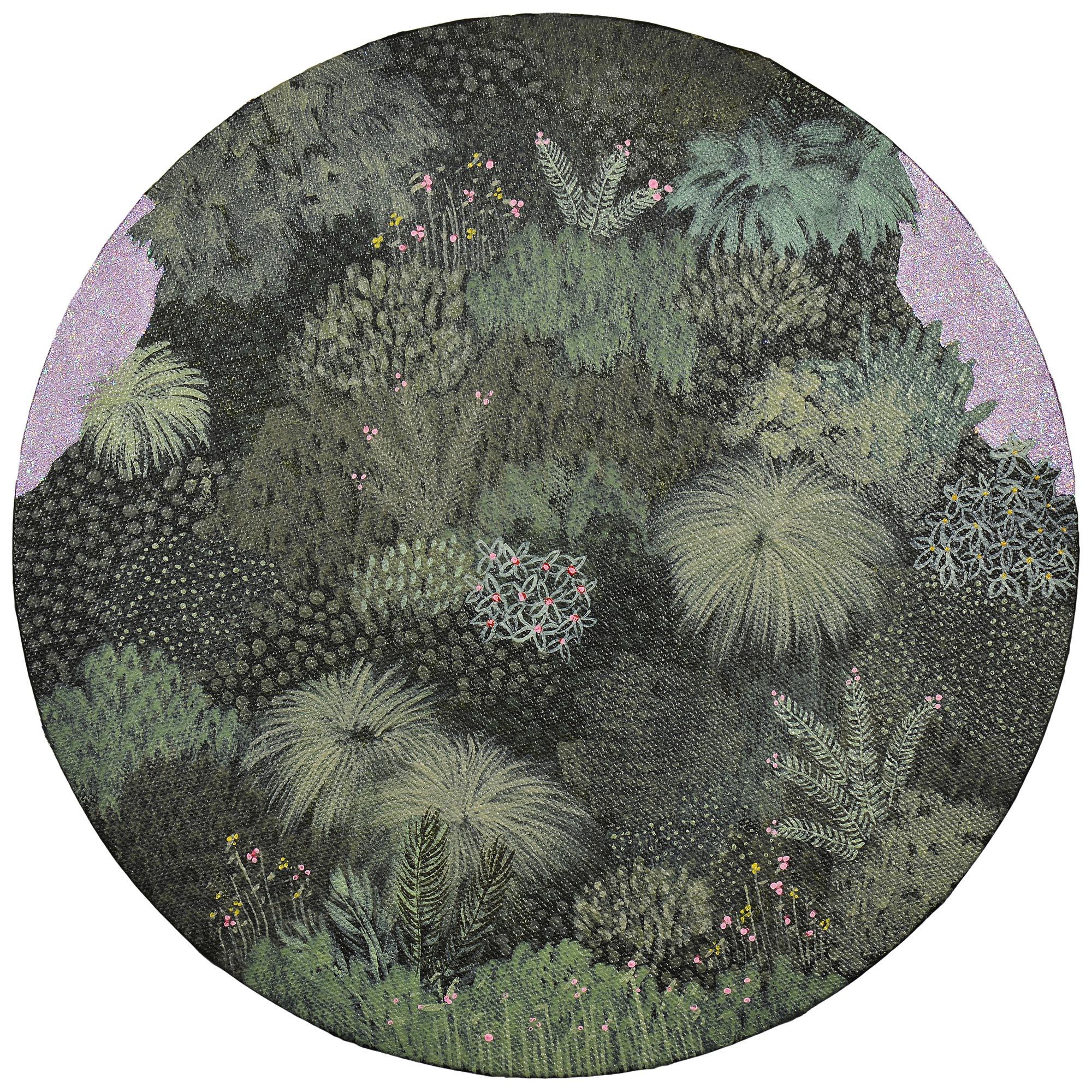 Marc Standing, Wilderness 5 , 2016, acrylic on canvas, 30 x 30 cm