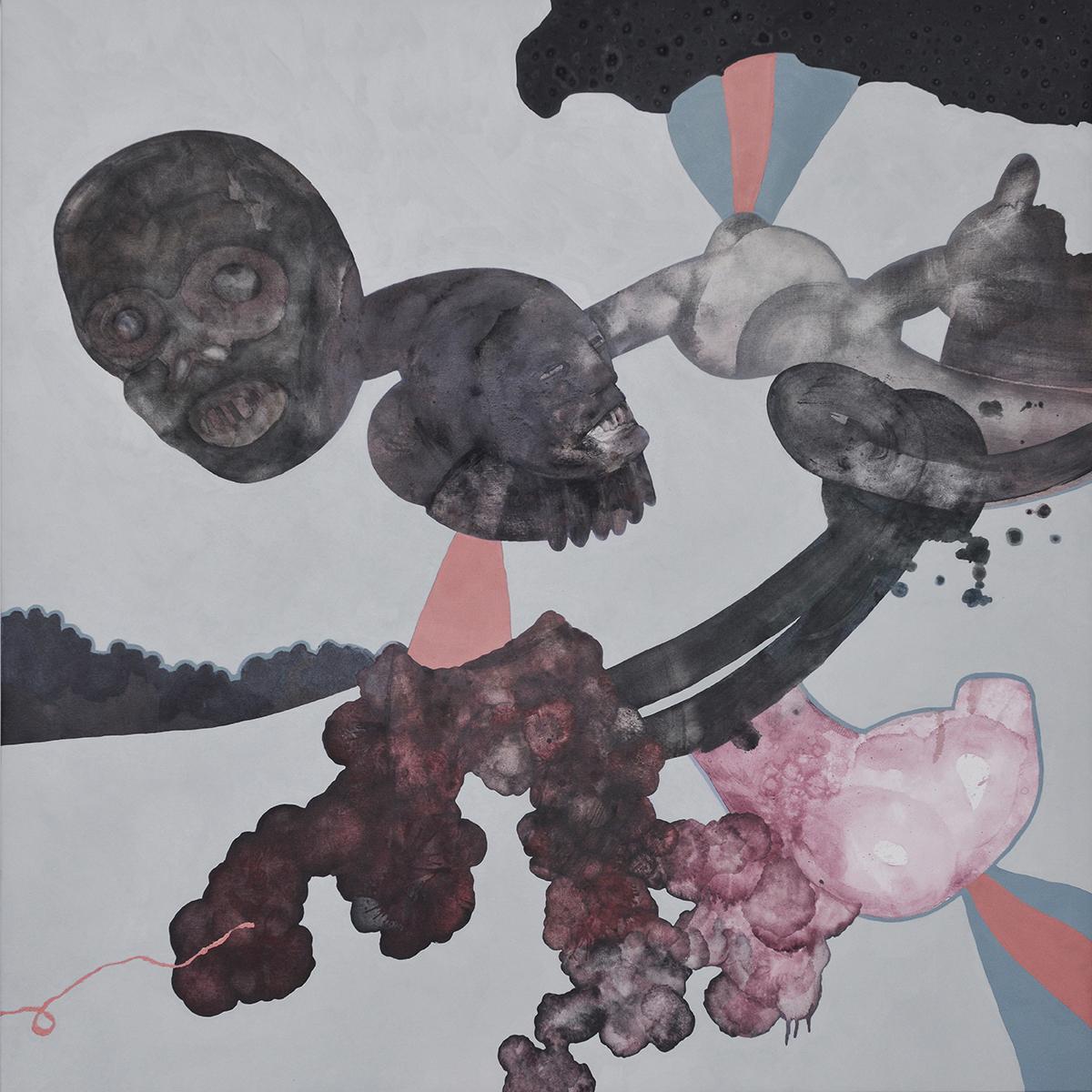 Marc Standing, The Medicine Men , 2015, oil on canvas, 100 x 100 cm