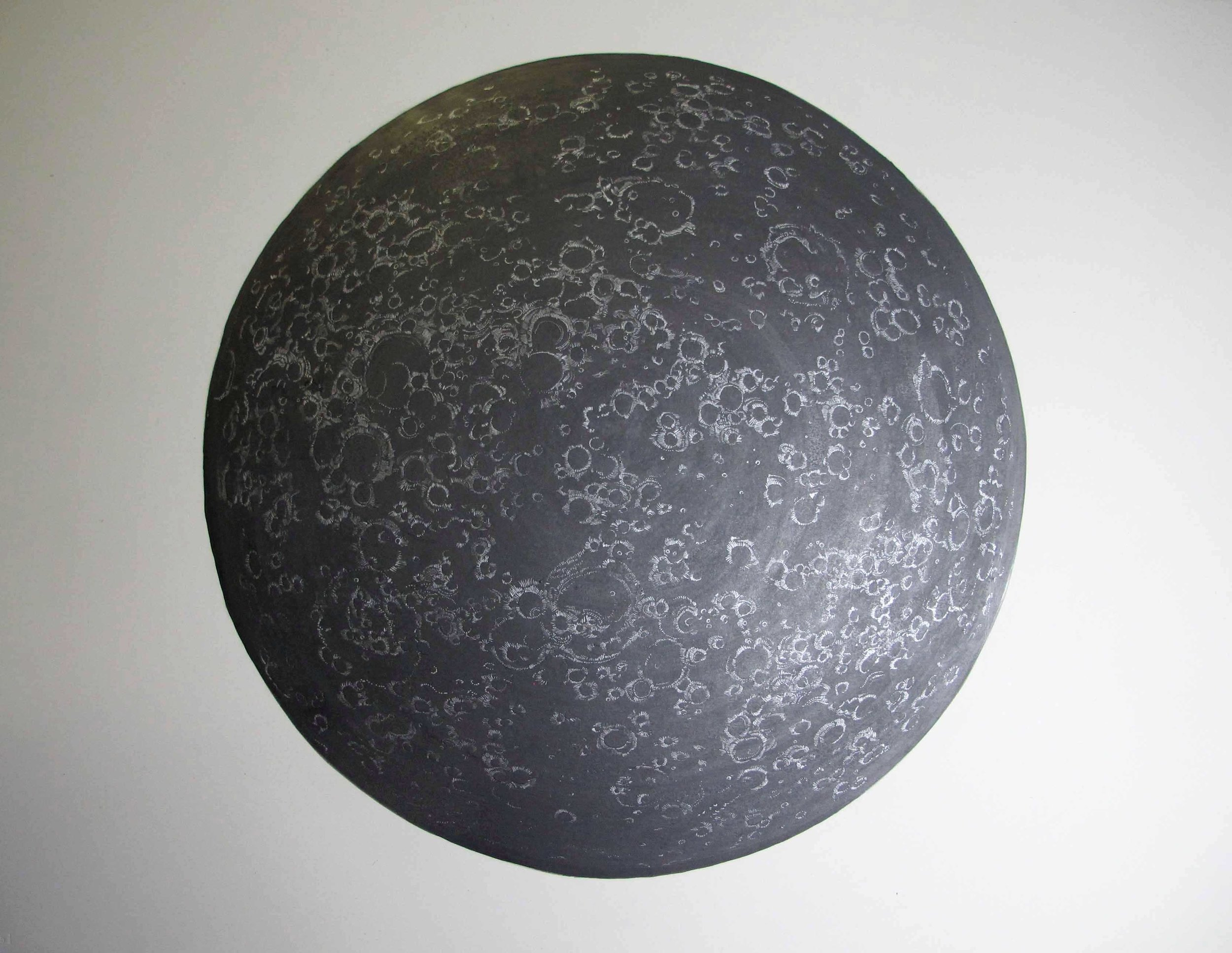 Simon MacEwan, The Sea of Dreams , 2012, graphite and silver ink on paper, 76 x 56cm