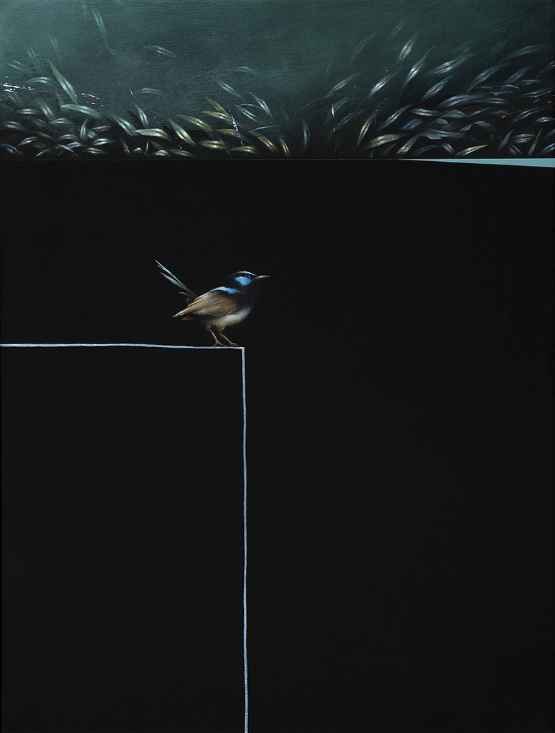 Jarek Wojcik,Enclosure, 2016, acrylic on linen, 41x31cm