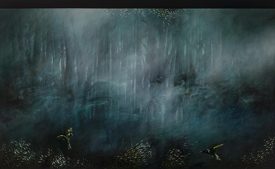 Jarek Wojcik, Pressque vu , 2016, acrylic on linen