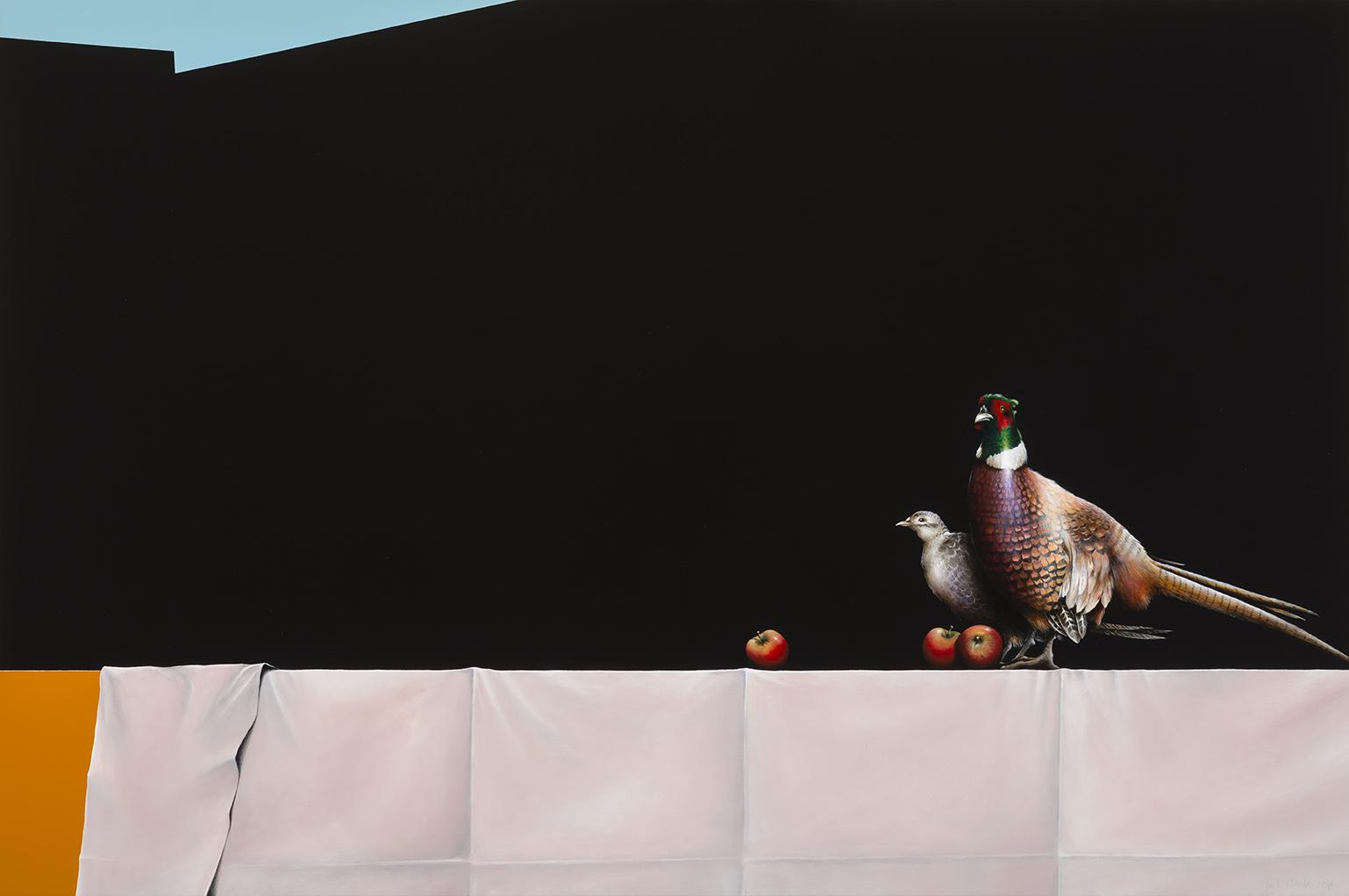 Jarek Wojcik, The Narrator (2) , 2014, acrylic on linen, 102 x 153cm