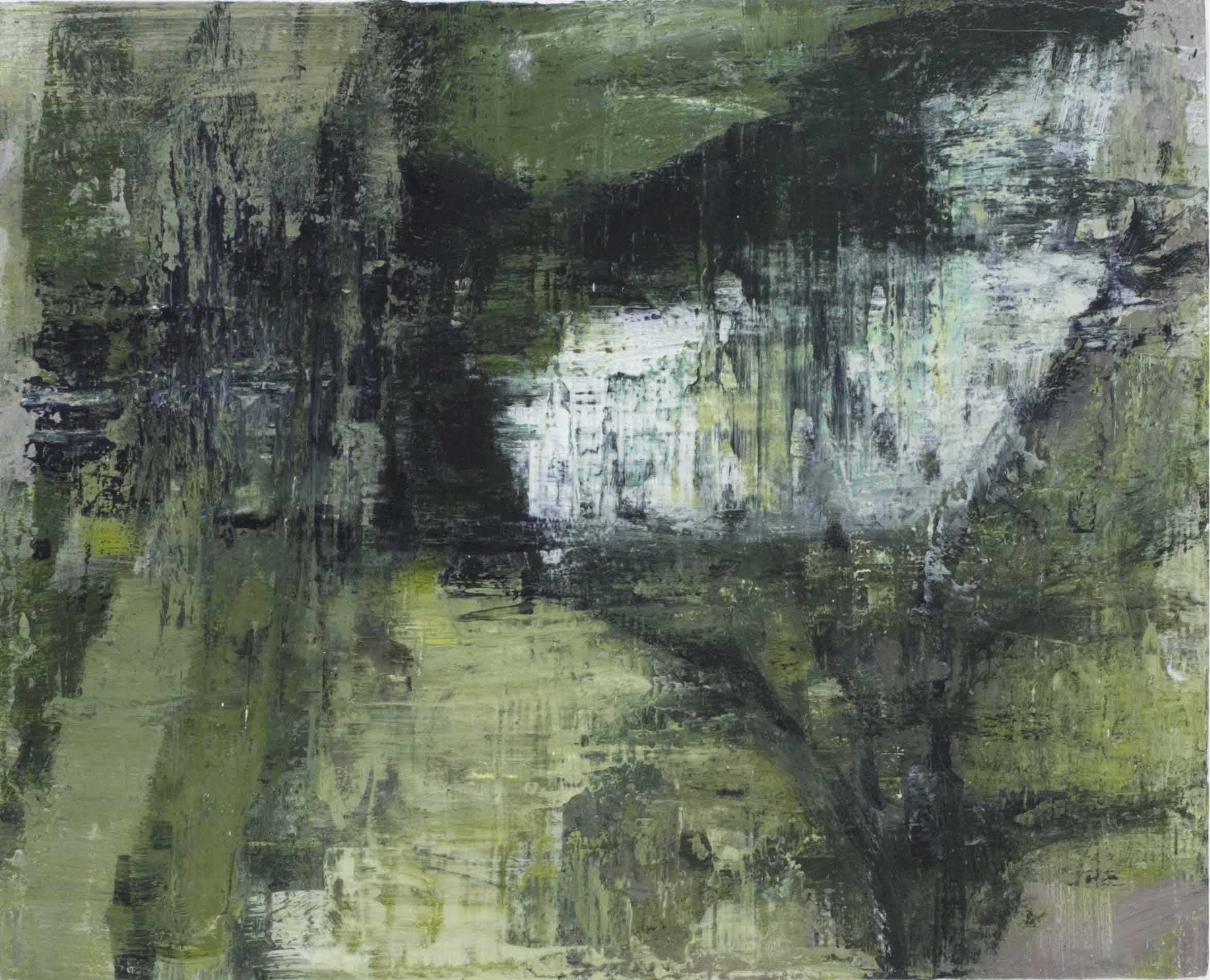 Joanna Logue, Garden , 2016, acrylic on board, 30 x 40cm