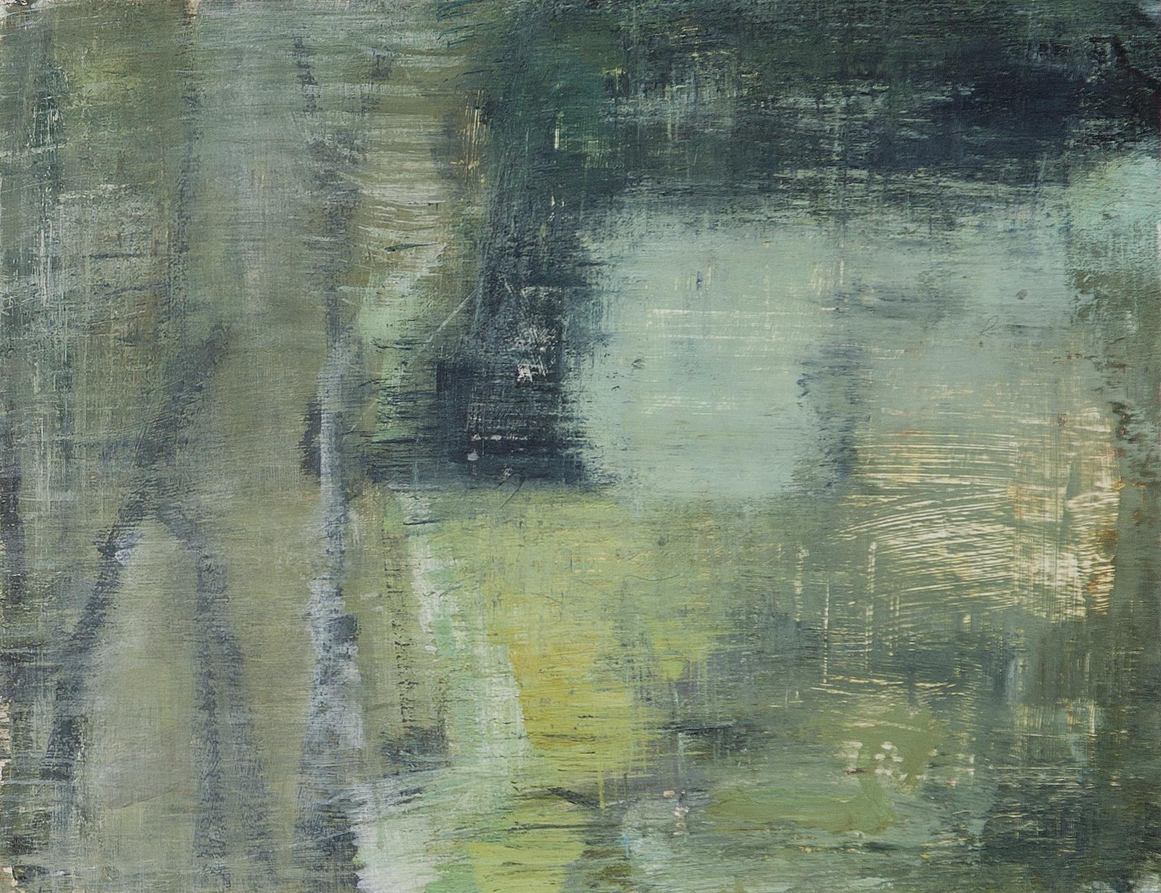Joanna Logue, Field –Essington II , 2015, acrylic on board, 34 x 45cm