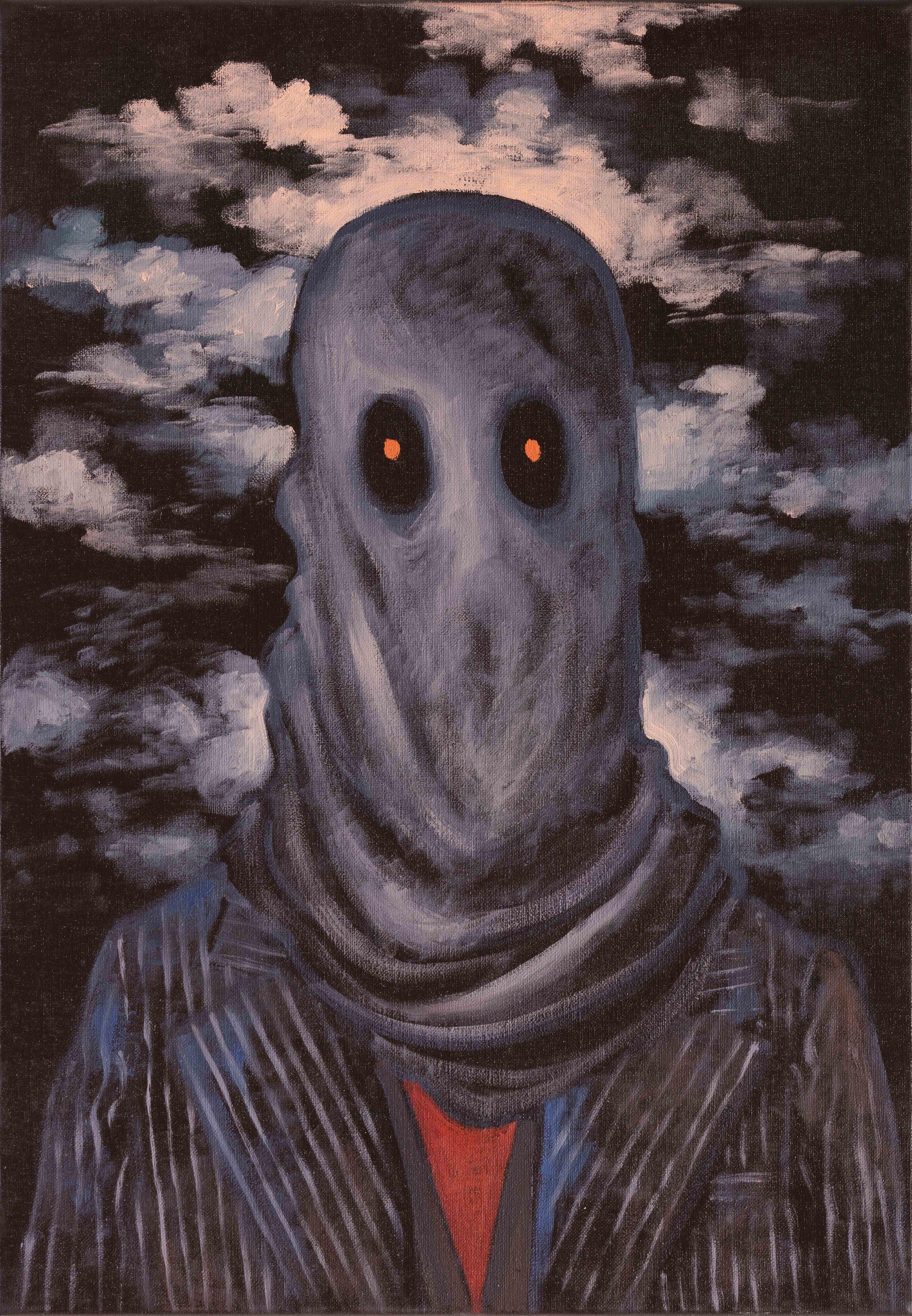 Michael Vale, Mercury Portrait I , 2016, oil on linen, 51 x 36cm