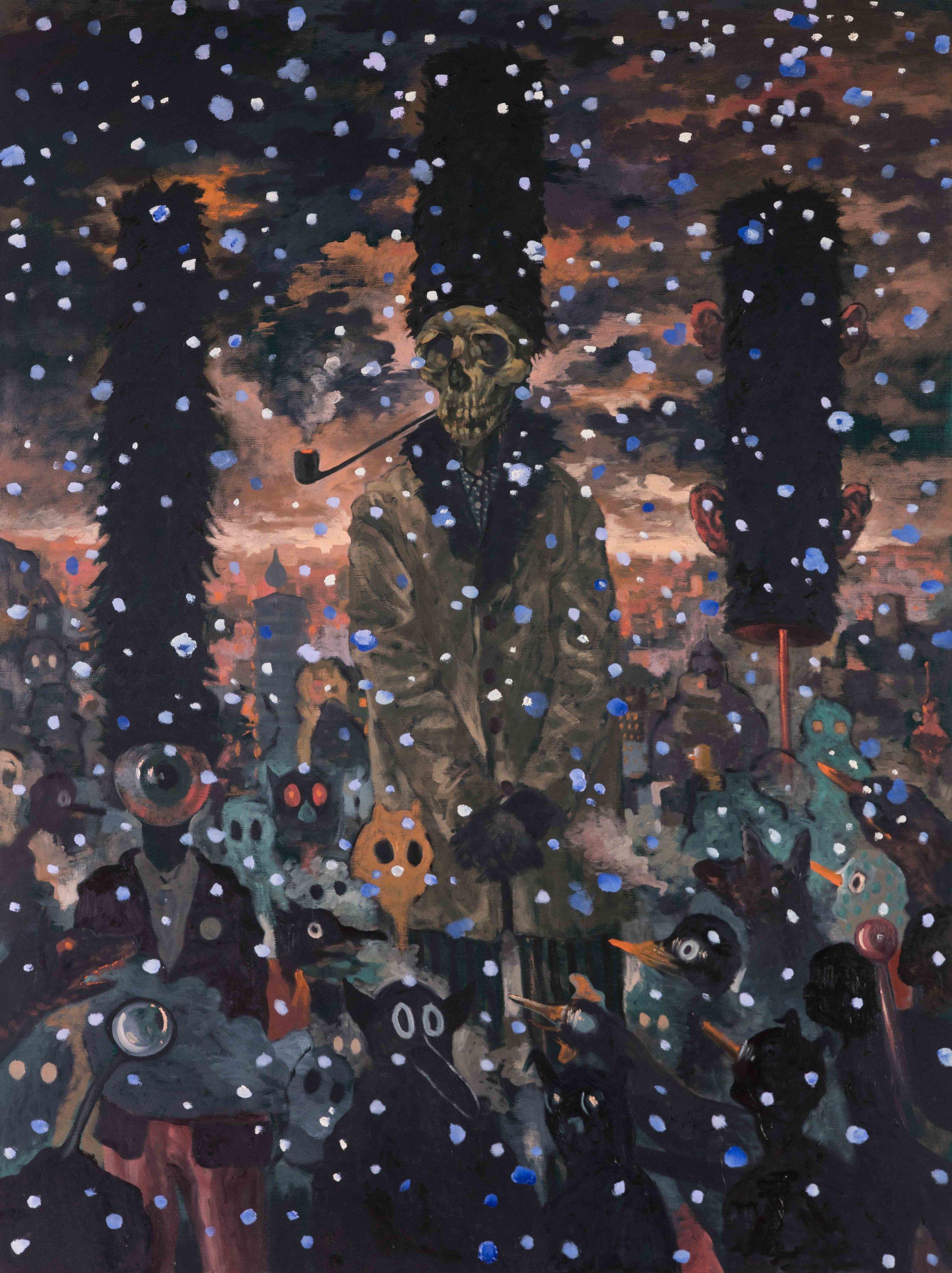 Michael Vale, Snow , 2016, oil on linen, 122 x 92cm