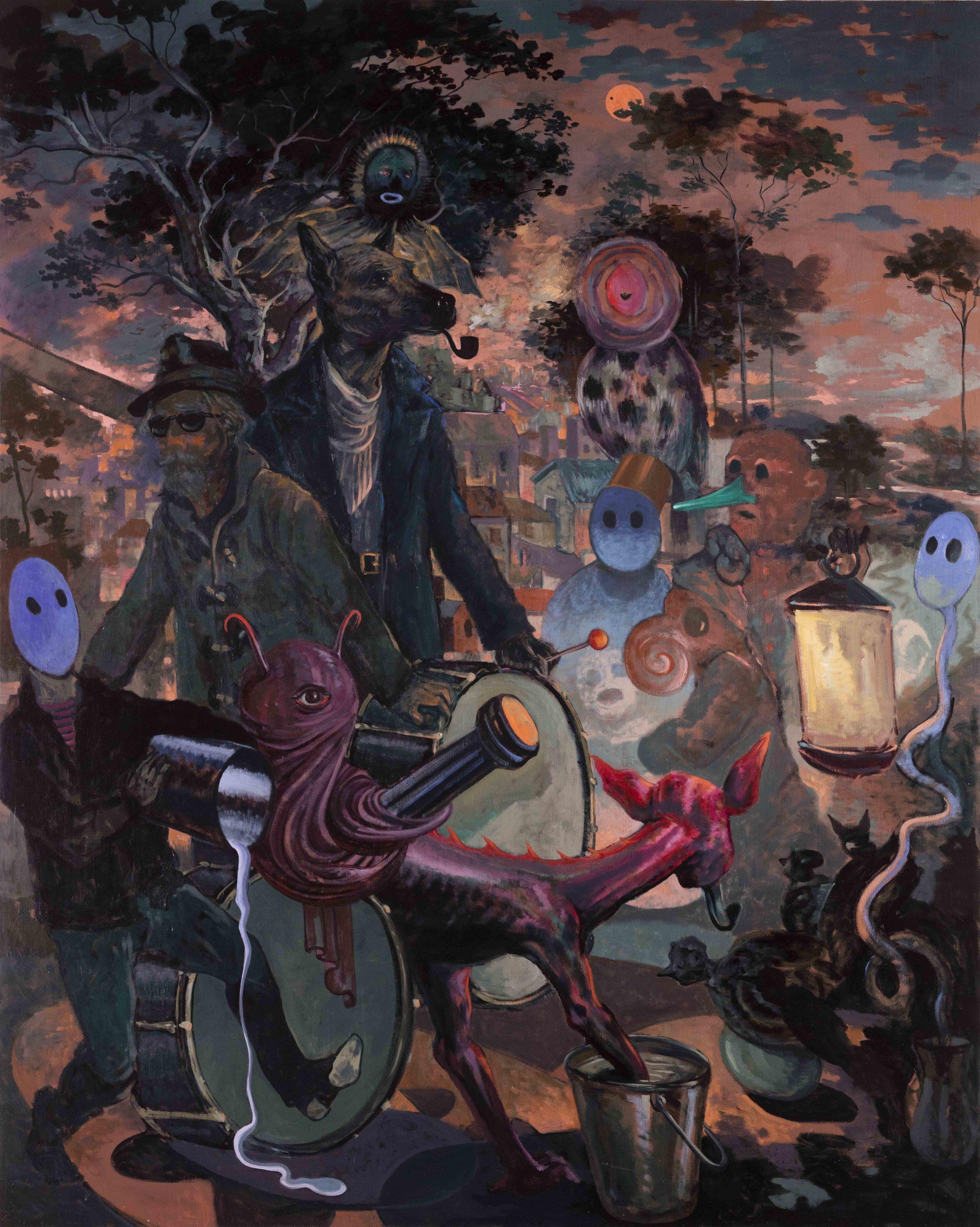 Michael Vale, The Transit of Mercury , 2016, oil on linen, 152 x 122cm
