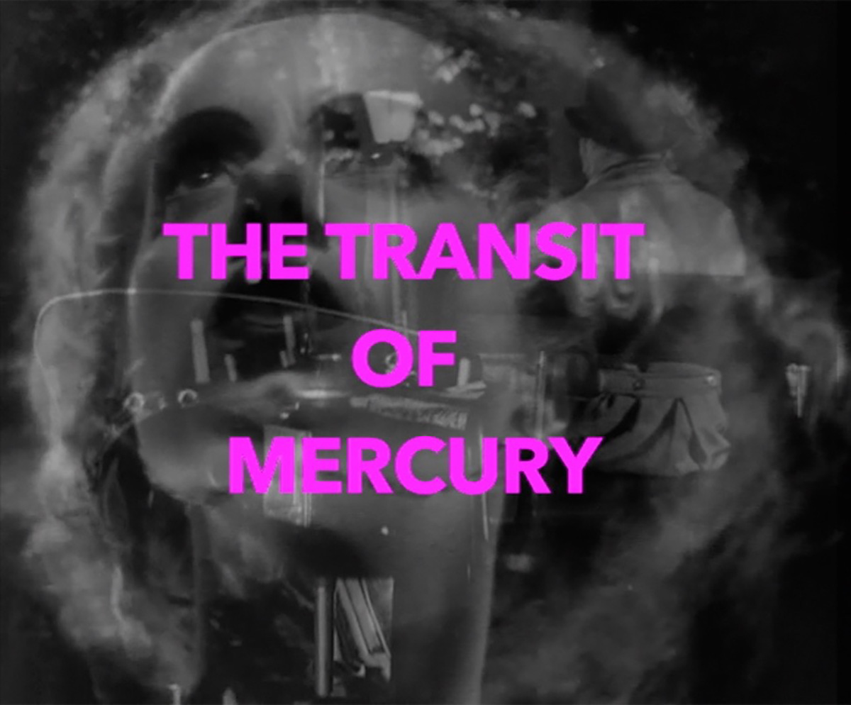 Michael Vale,  The Transit of Mercury (video still) , 2016, video collage, 6.5 minute loop