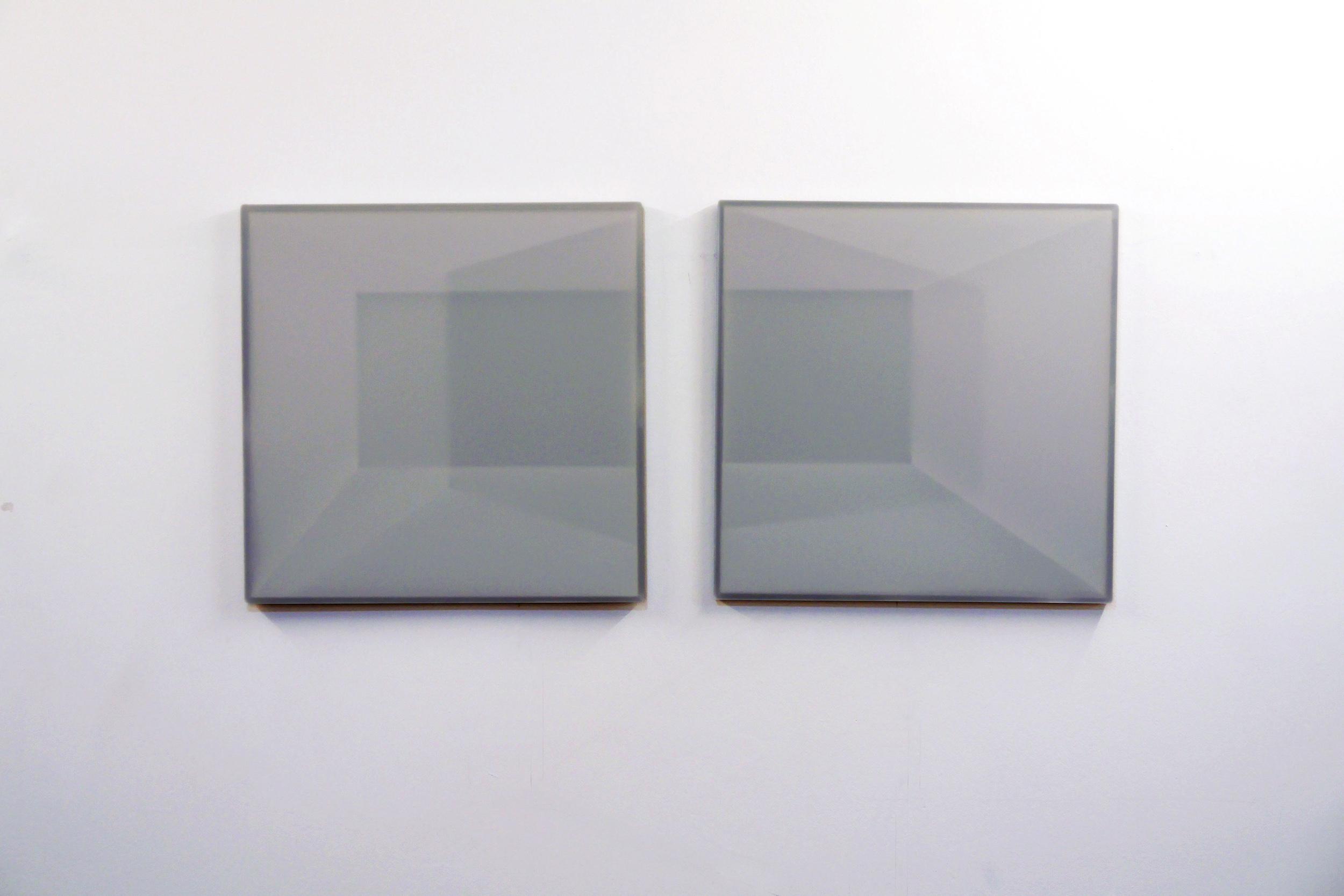 Karyn Taylor, Plato's Room III , 2015, Perspex, draughting film, 90 x 40cm