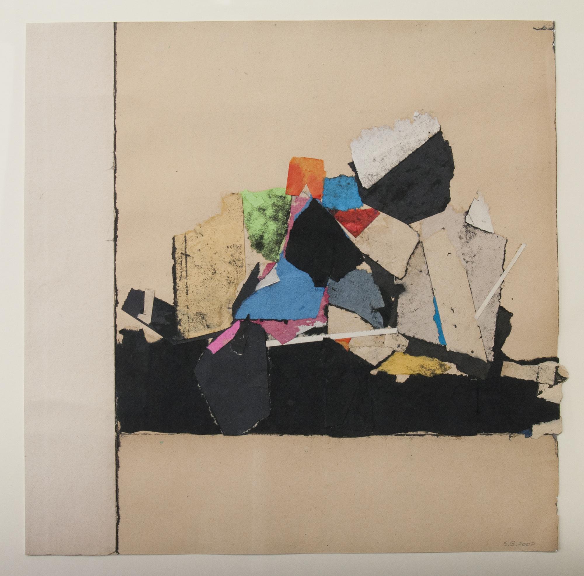 Sam Grigorian, Untitled , 2007, mixed media, decollage, paper, 30.5 x 30.5cm